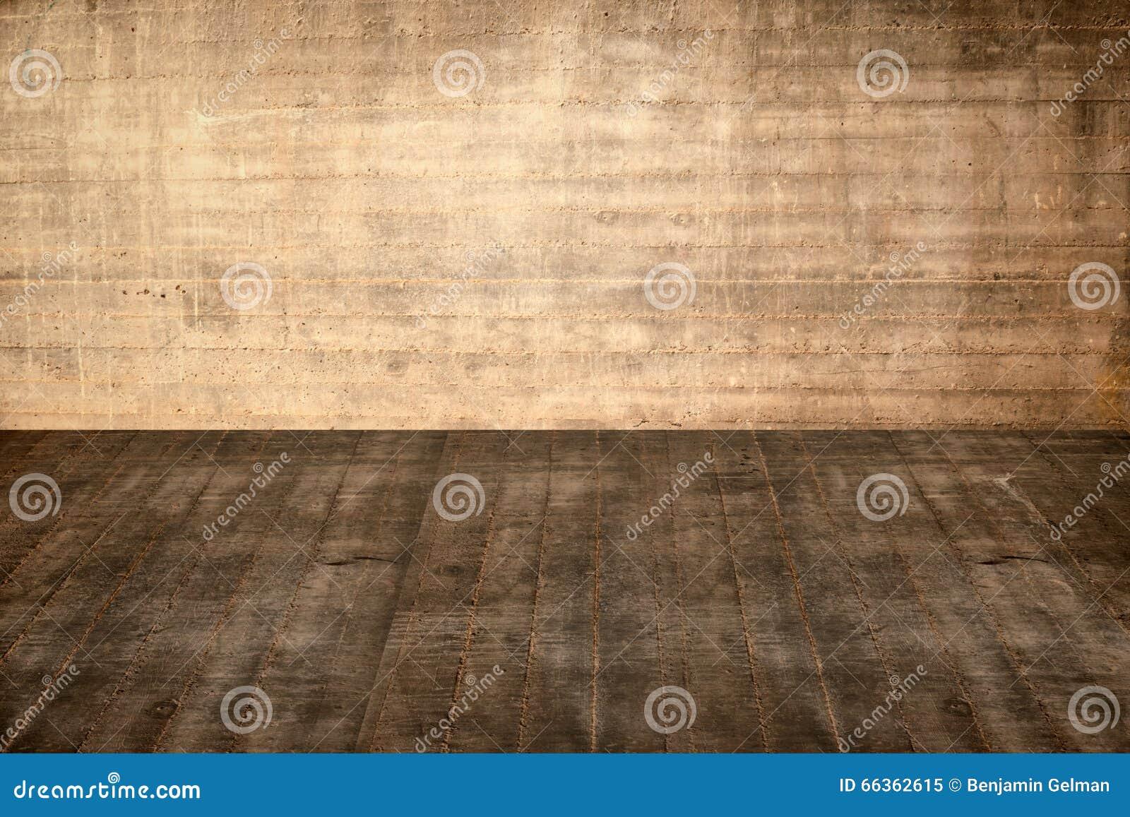 例证水泥地板和墙壁在老内部
