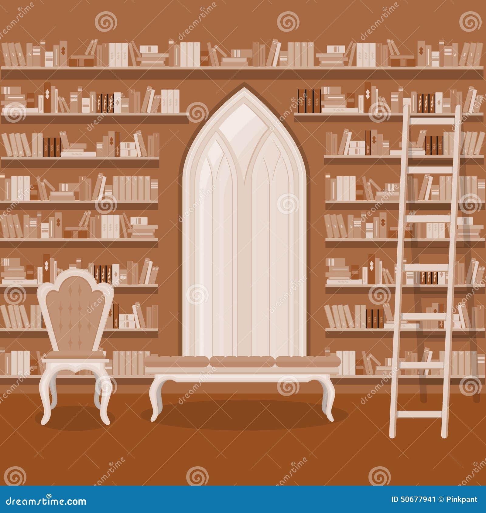 Download 例证 老大家庭书库内部 库存例证. 插画 包括有 概念, 长沙发, 书架, 居住, 书店, 任何地方, 机柜 - 50677941