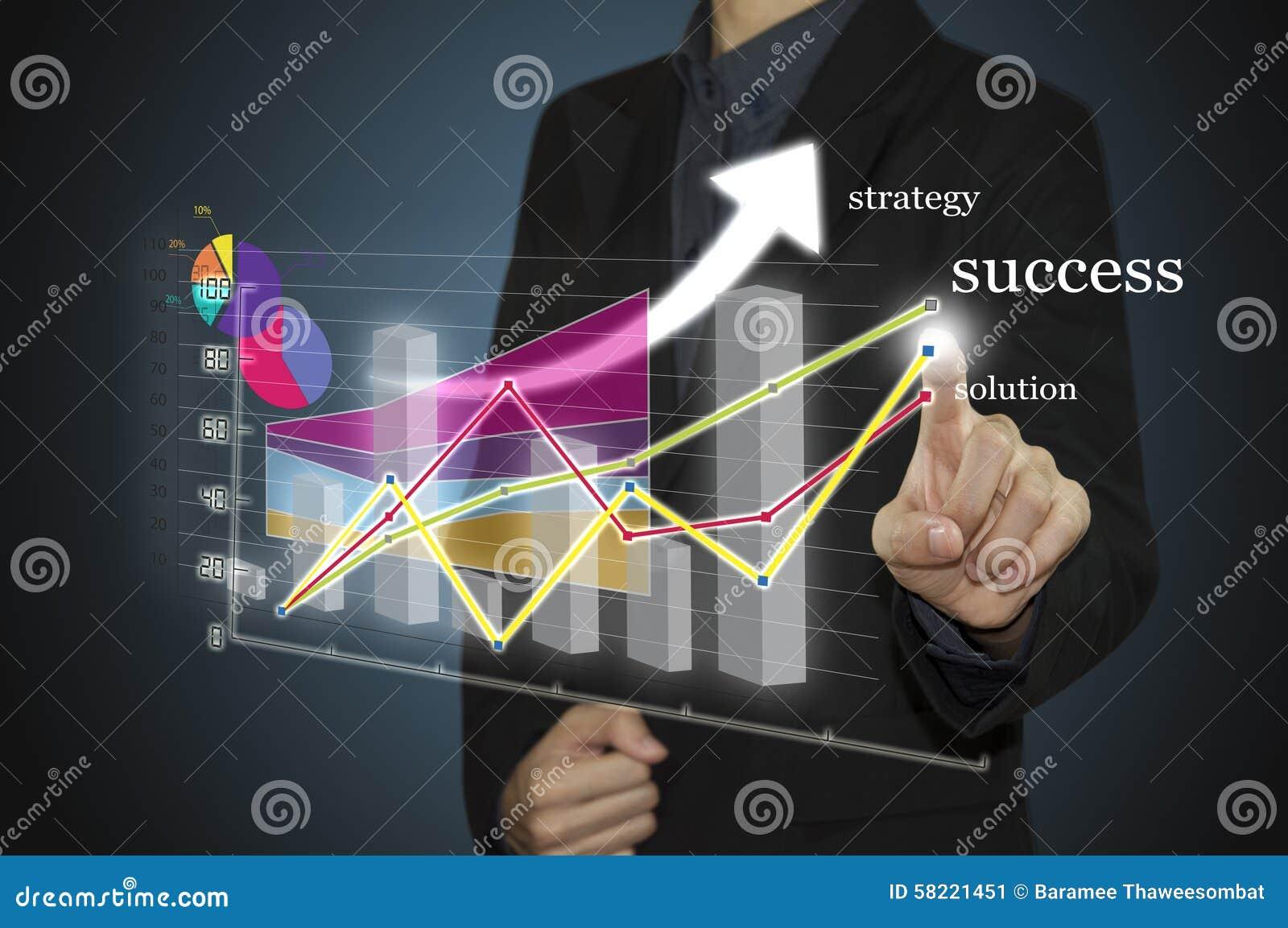 供以人员有得出图表图和经营战略的笔的手作为在whiteboard的概念