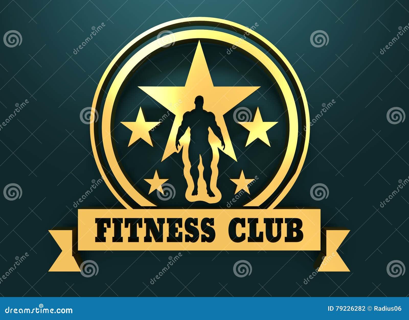 供以人员肌肉摆在 体型徽章