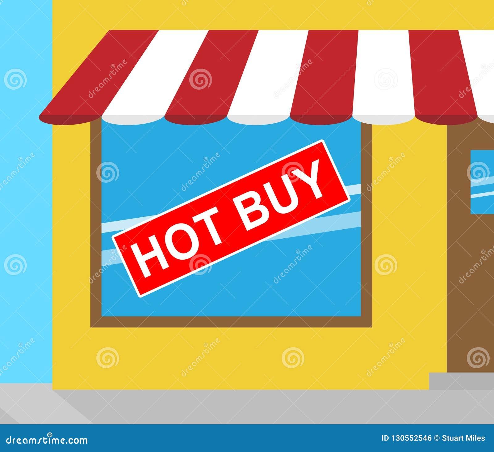 便宜地显示热的购买的标志讲价3d例证