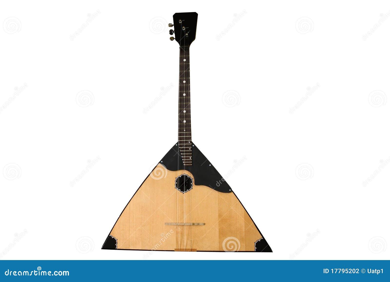 背景在白色之下的俄式三弦琴图象.图片
