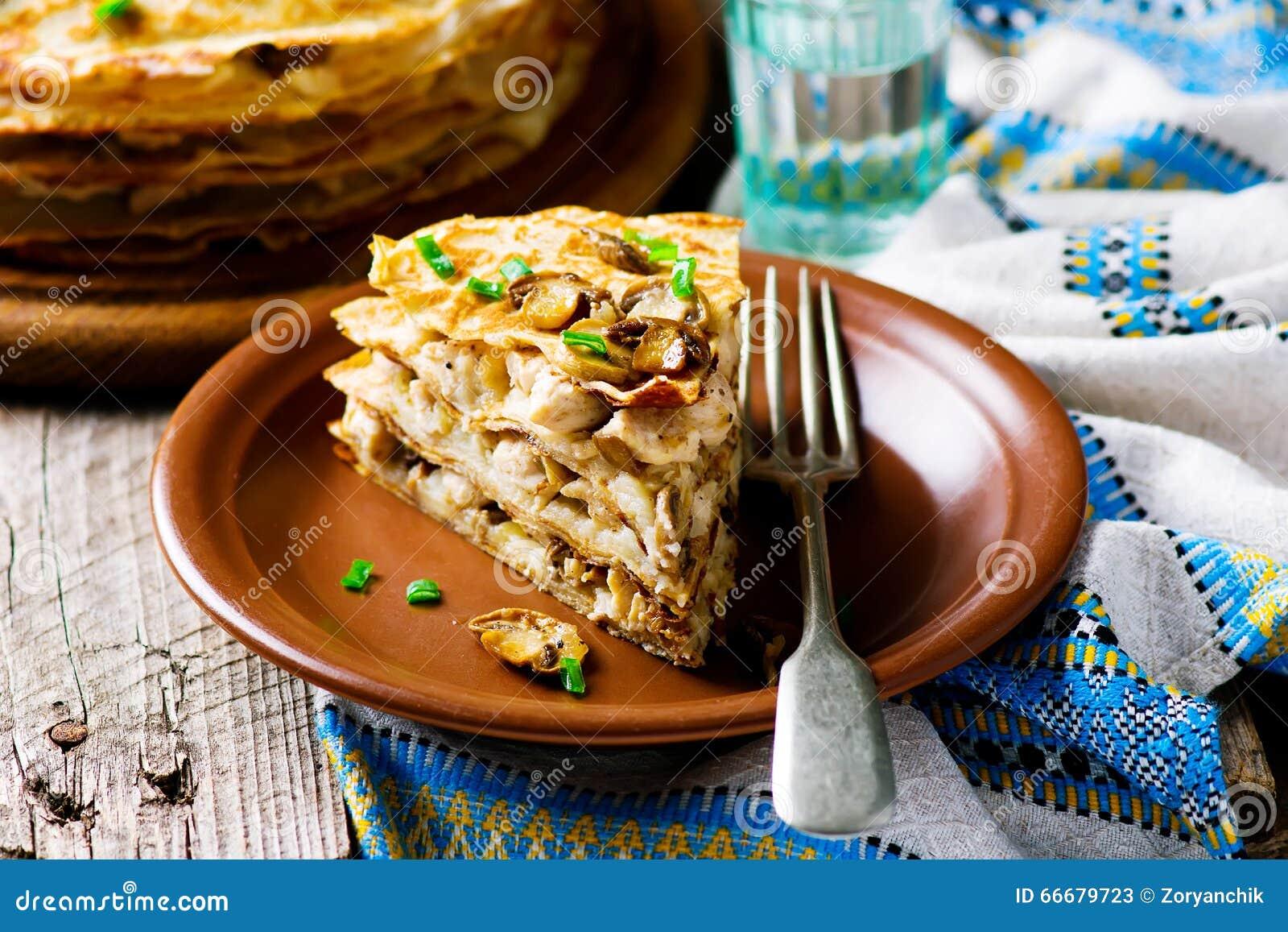 俄式薄煎饼饼用蘑菇
