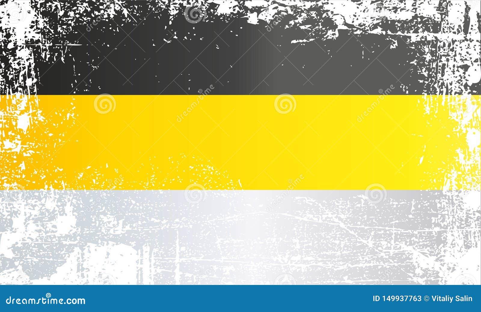 俄罗斯,俄罗斯帝国的国旗 起皱纹的肮脏的斑点