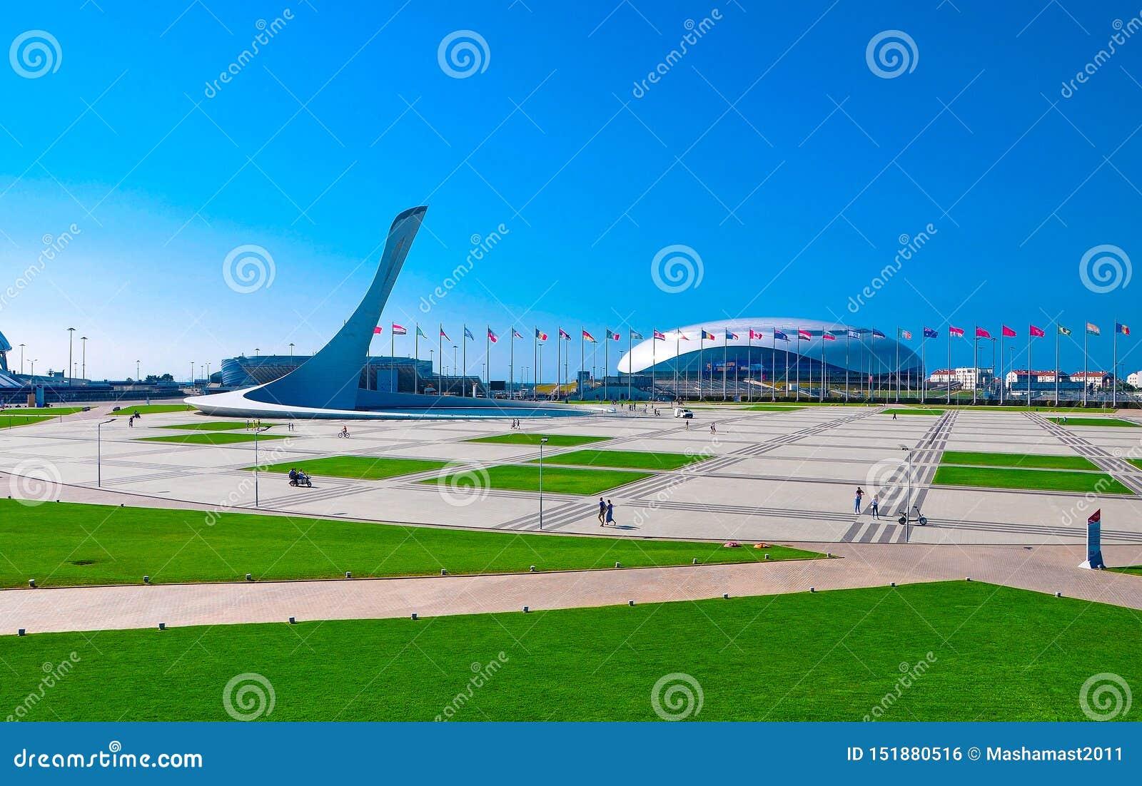 俄罗斯,索契- 10月14日2018体育场竞技场大在伊梅列季亚州手段