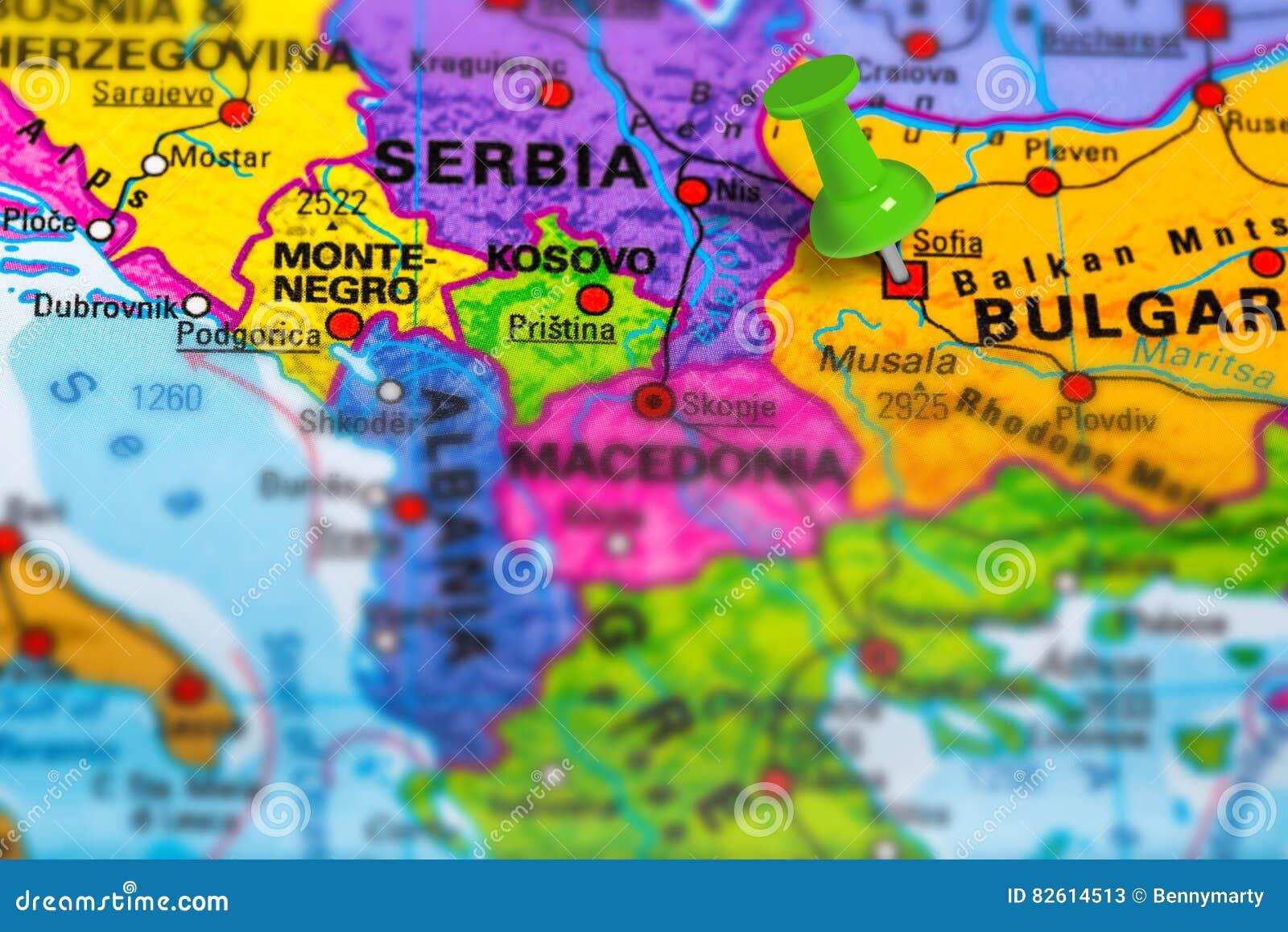 保加利亚索非亚地图