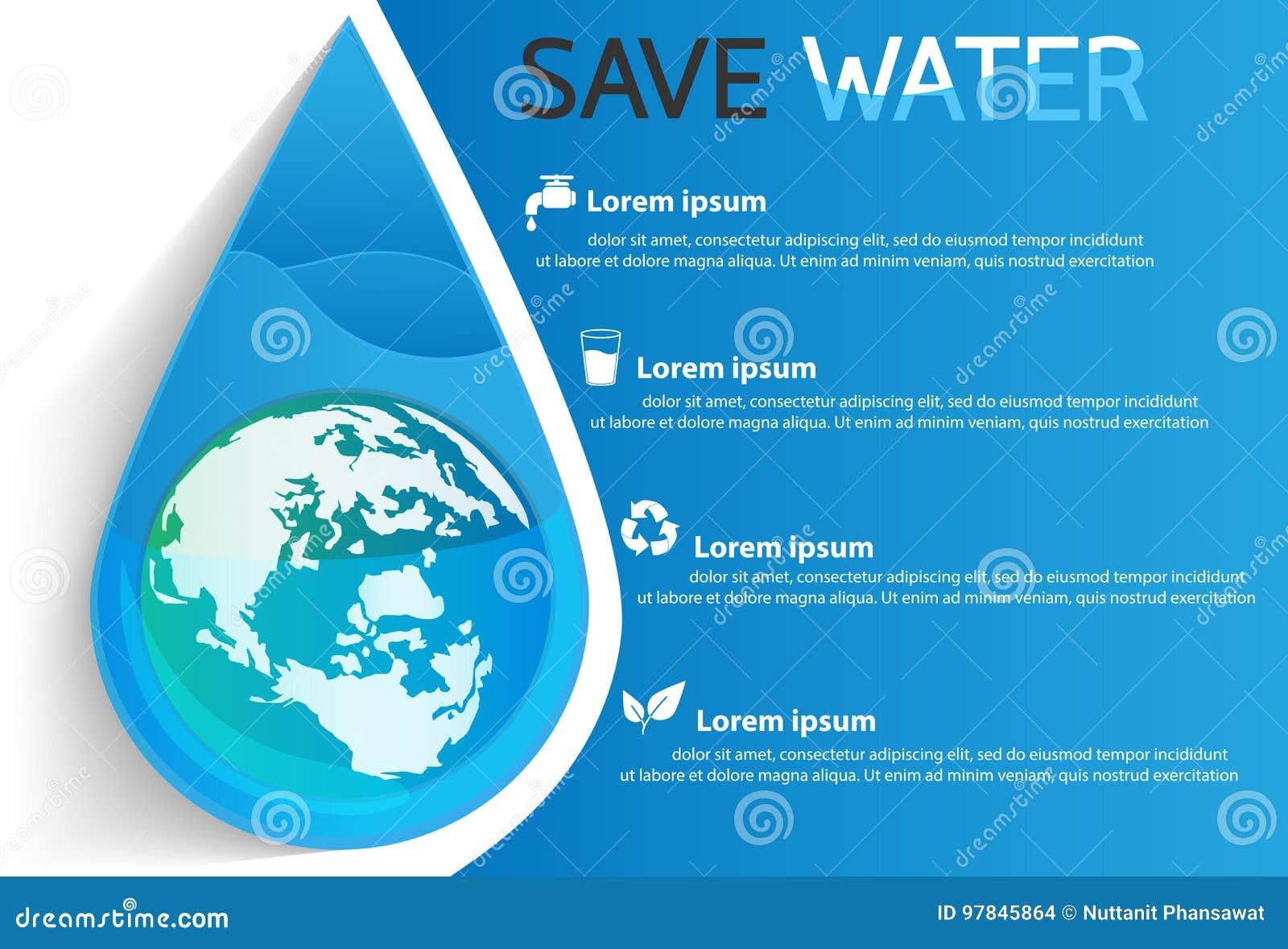 保存水信息图形设计