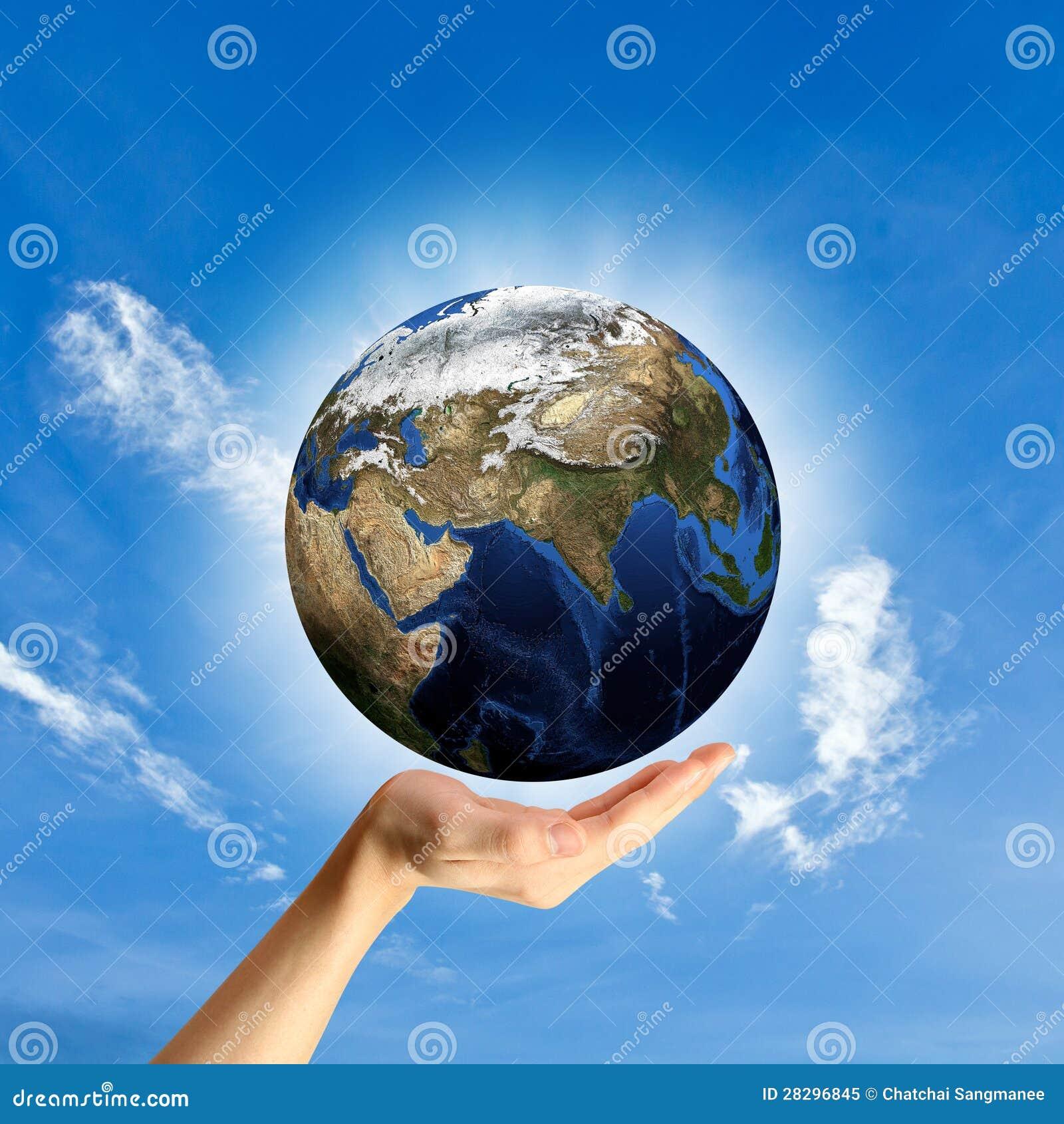 保护世界的概念。