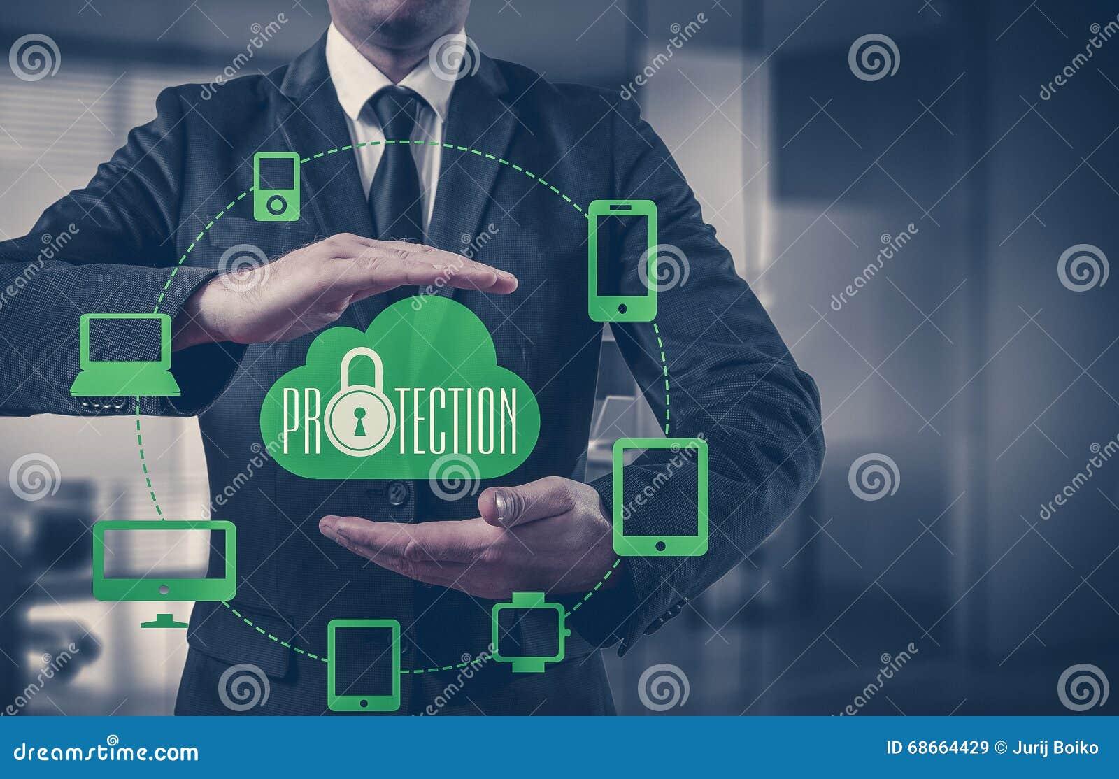 保护云彩信息数据概念 云彩数据安全和安全
