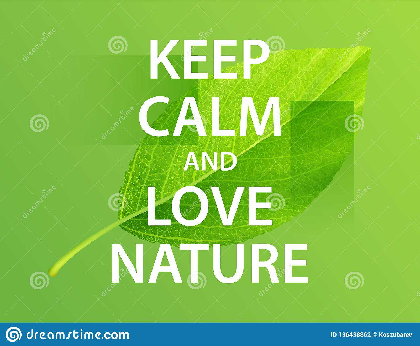 保留安静和爱自然 诱导海报