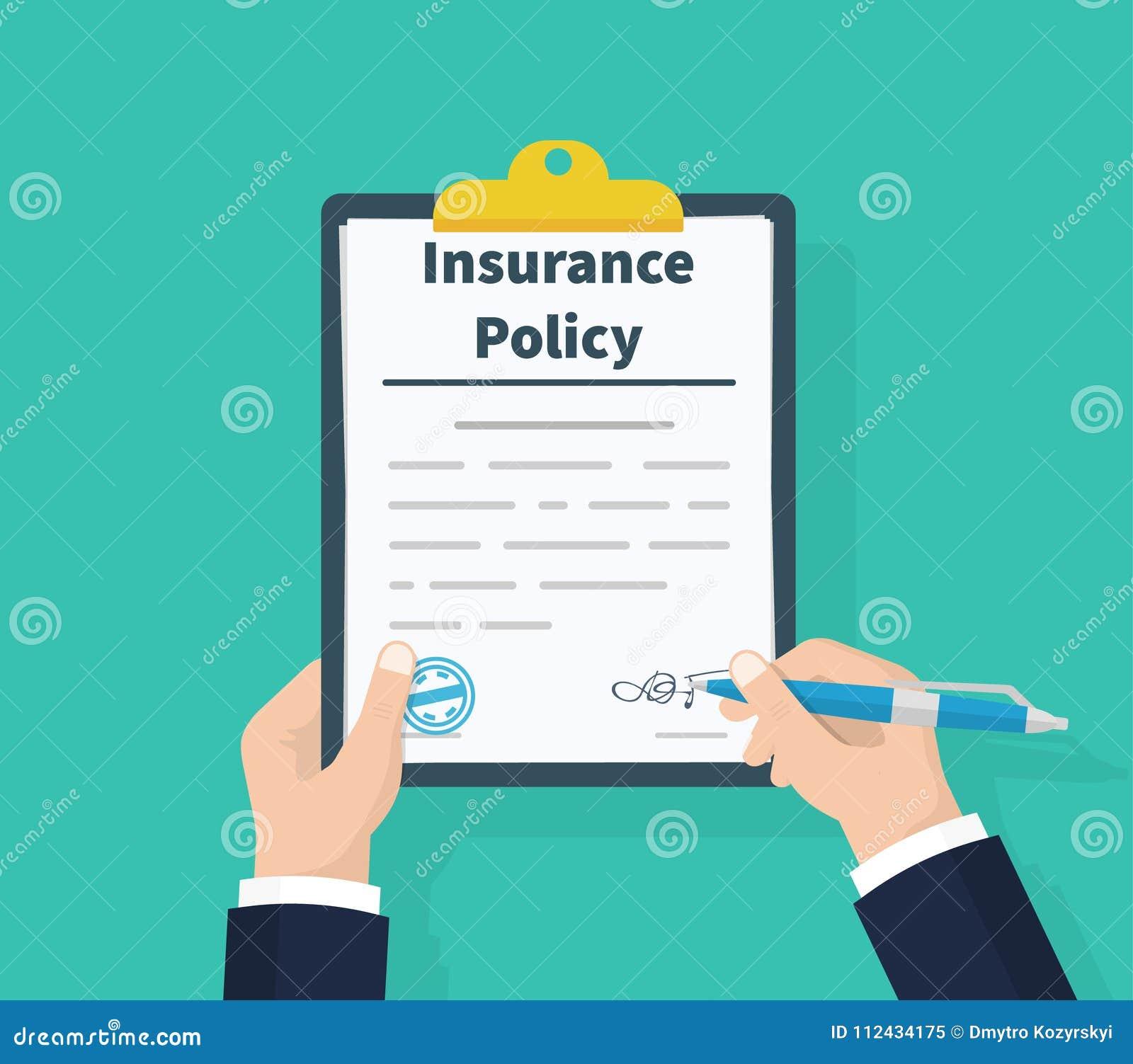 保险单 拿着剪贴板手中 人署名形式 索赔表 文件保护物产 解剖学