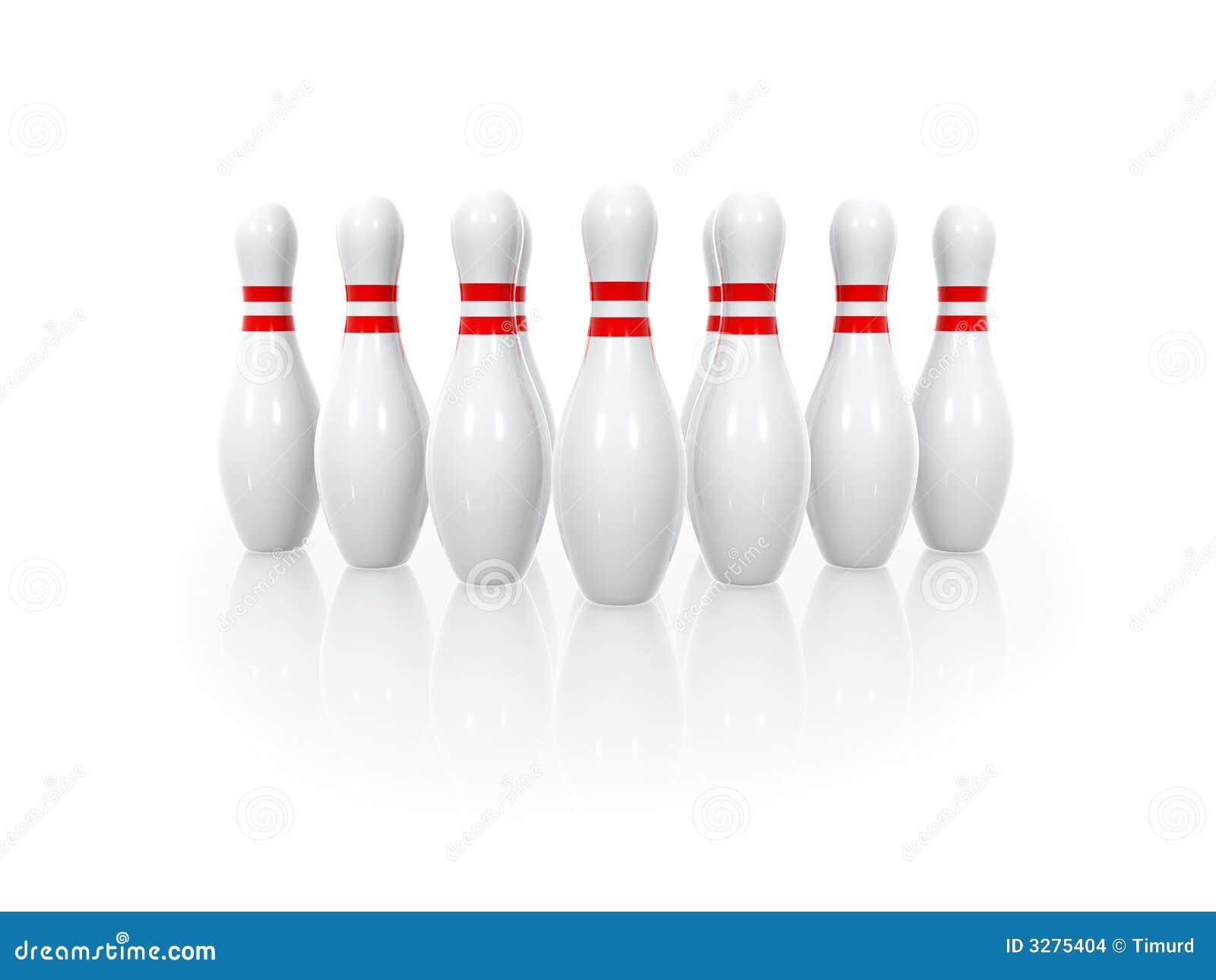 保龄球九柱游戏用的小柱