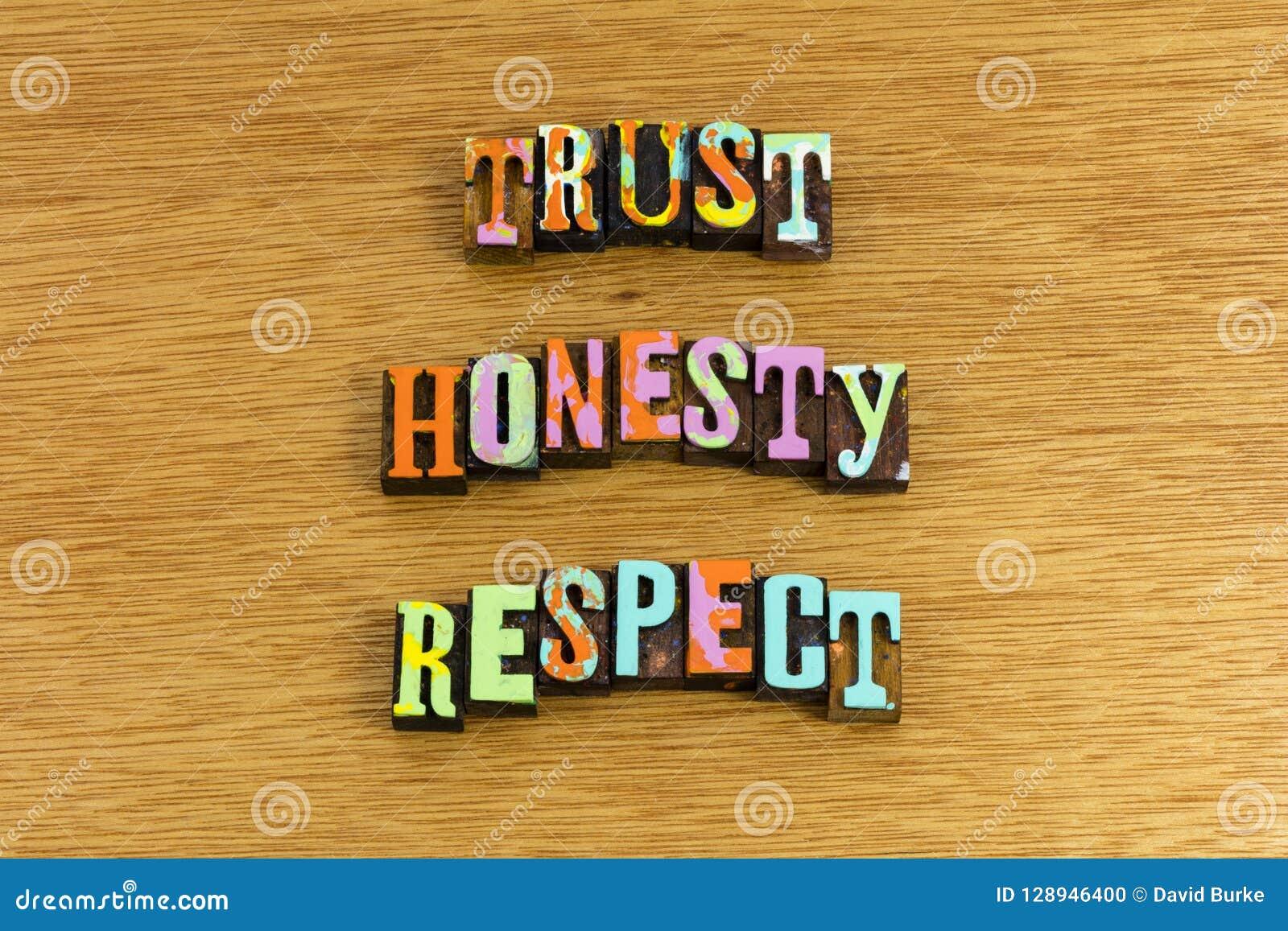 信任诚实尊敬