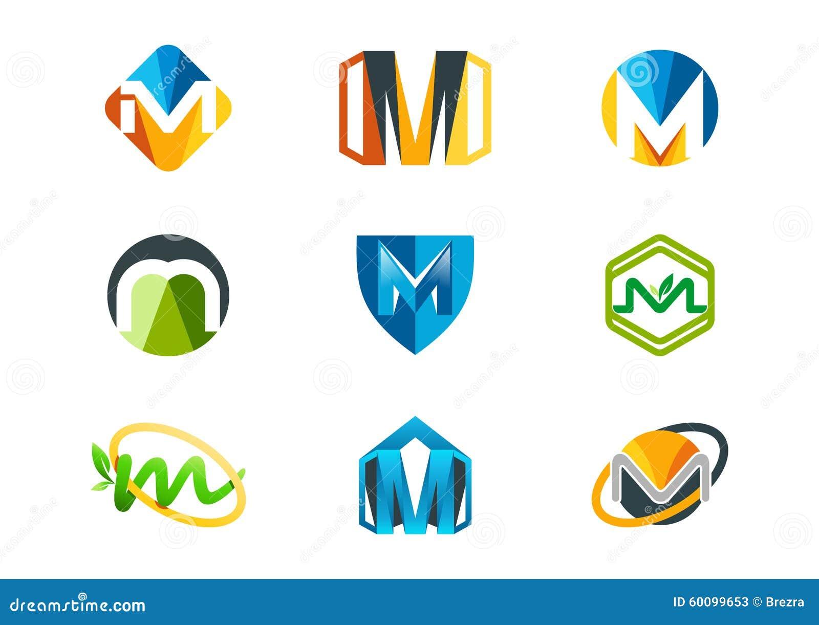 信函徽标m