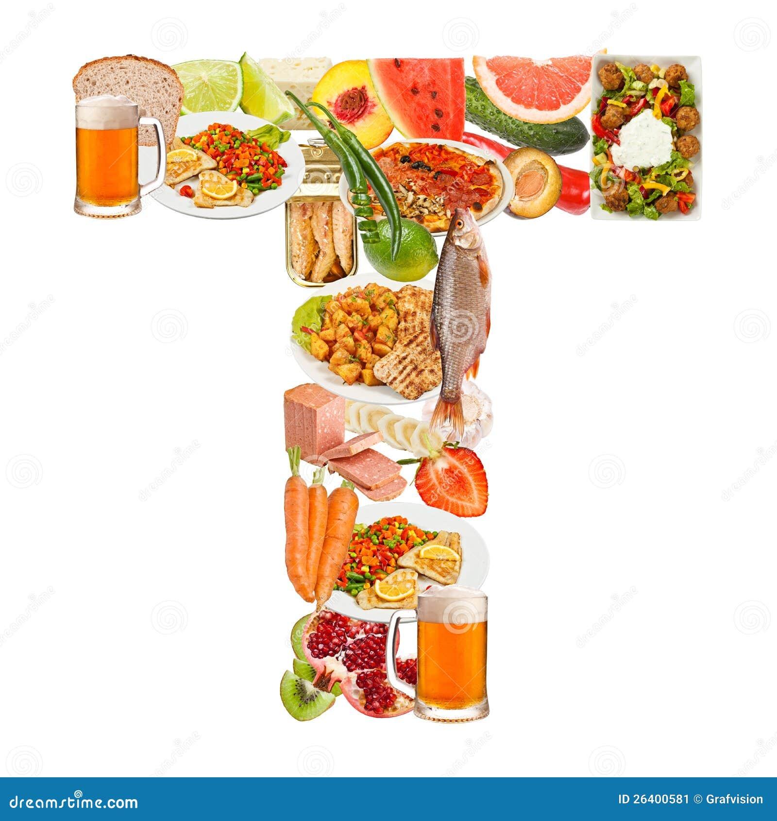 信函T由食物制成