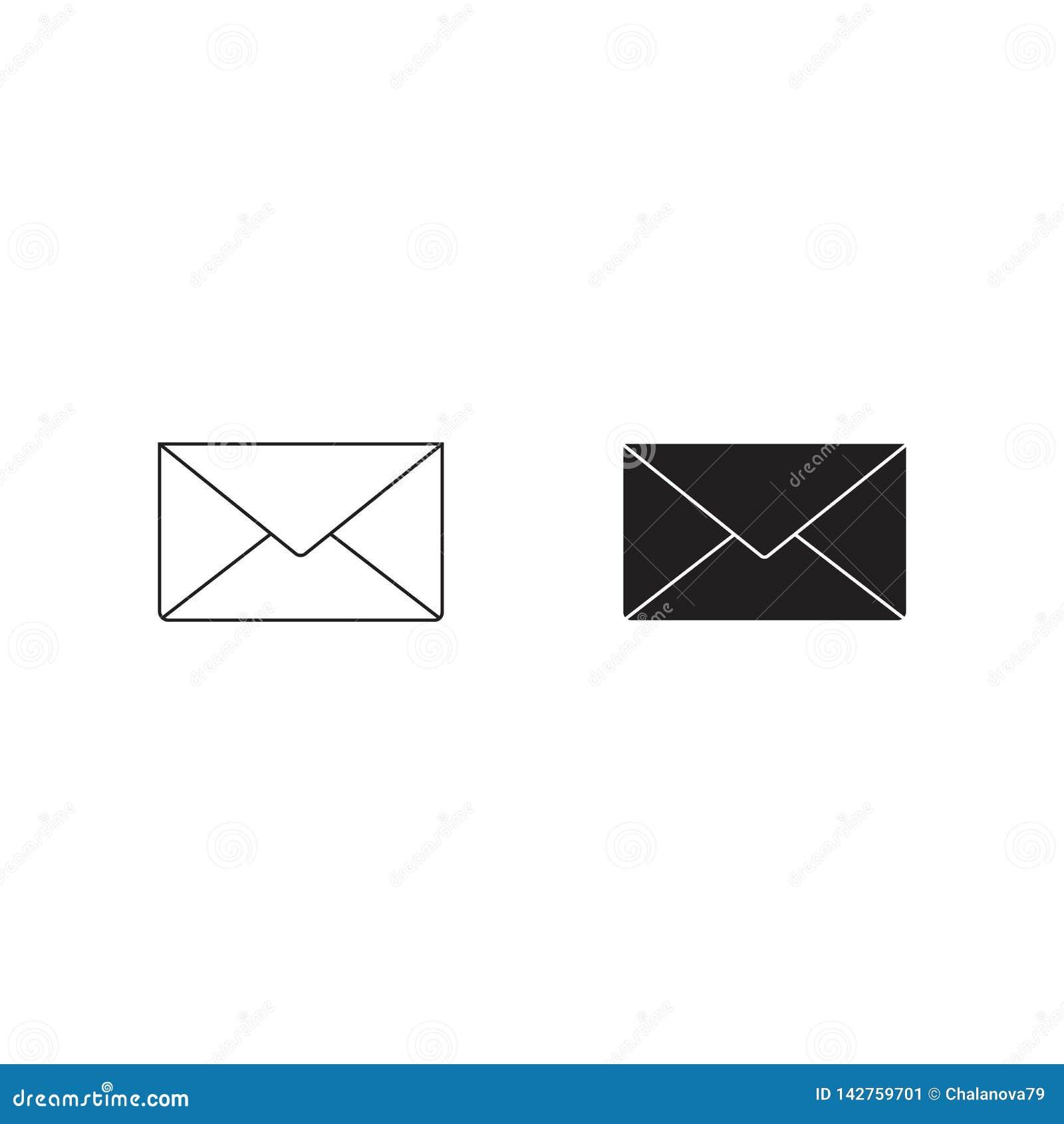 信包图标 在白色背景隔绝的传染媒介illustrtation
