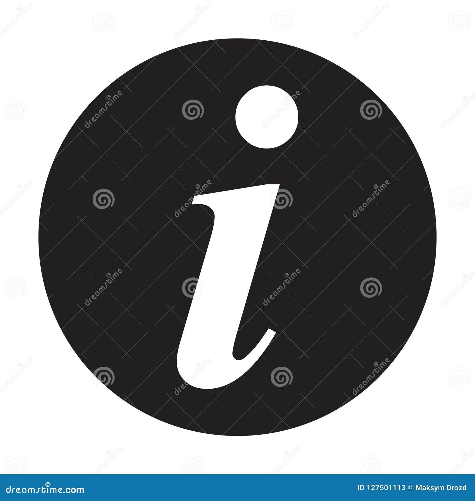 信息标志象,信息象,信件我导航例证