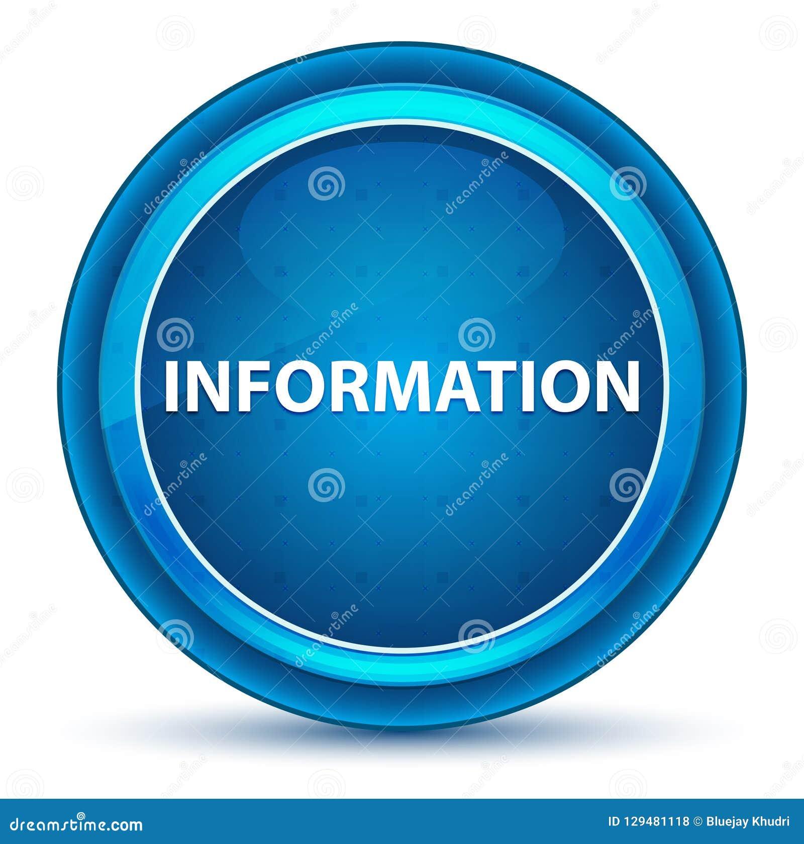 信息眼珠蓝色圆的按钮