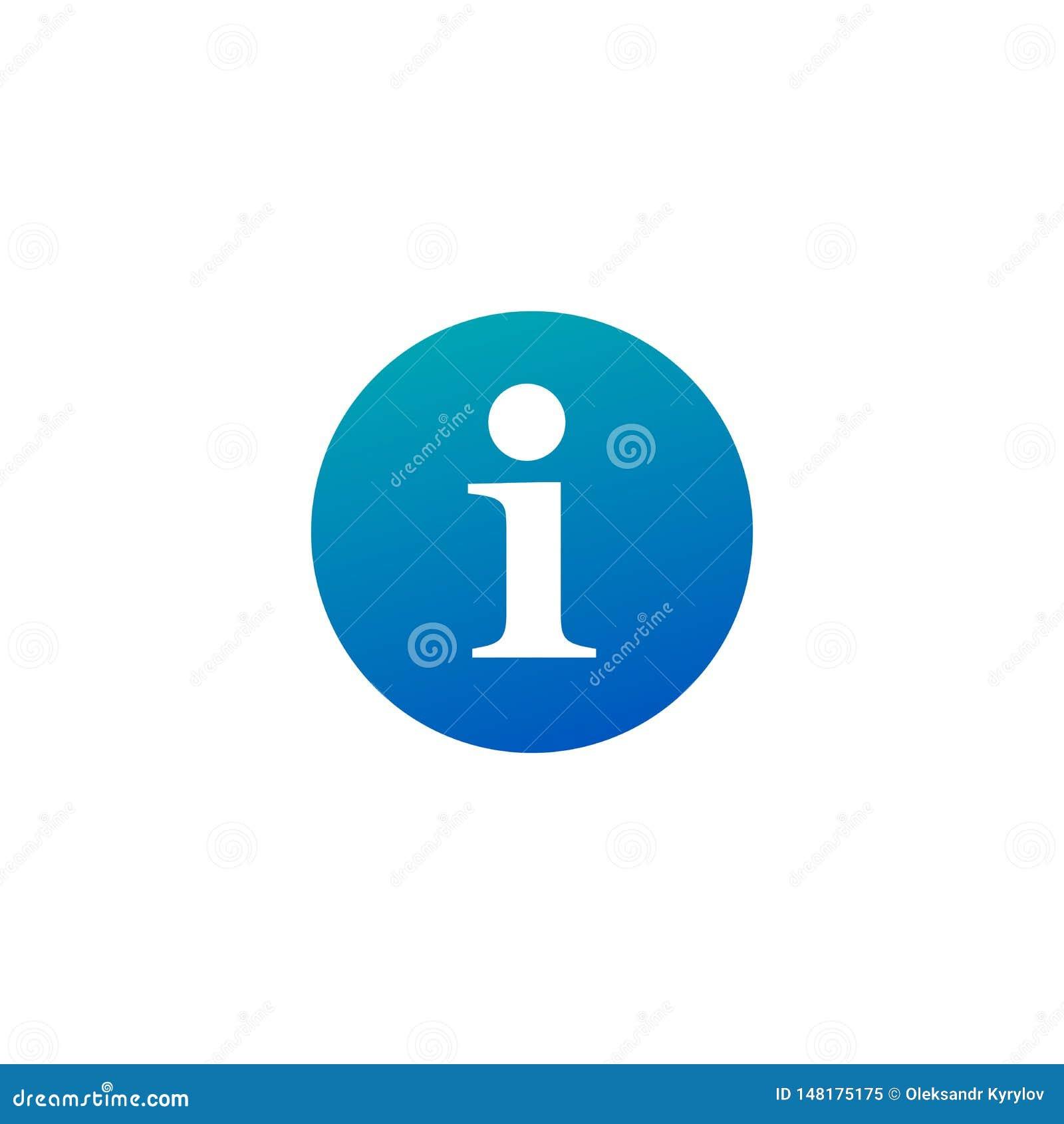 信息象平的信息按钮标志,标志,贴纸 对流动用户界面 ??