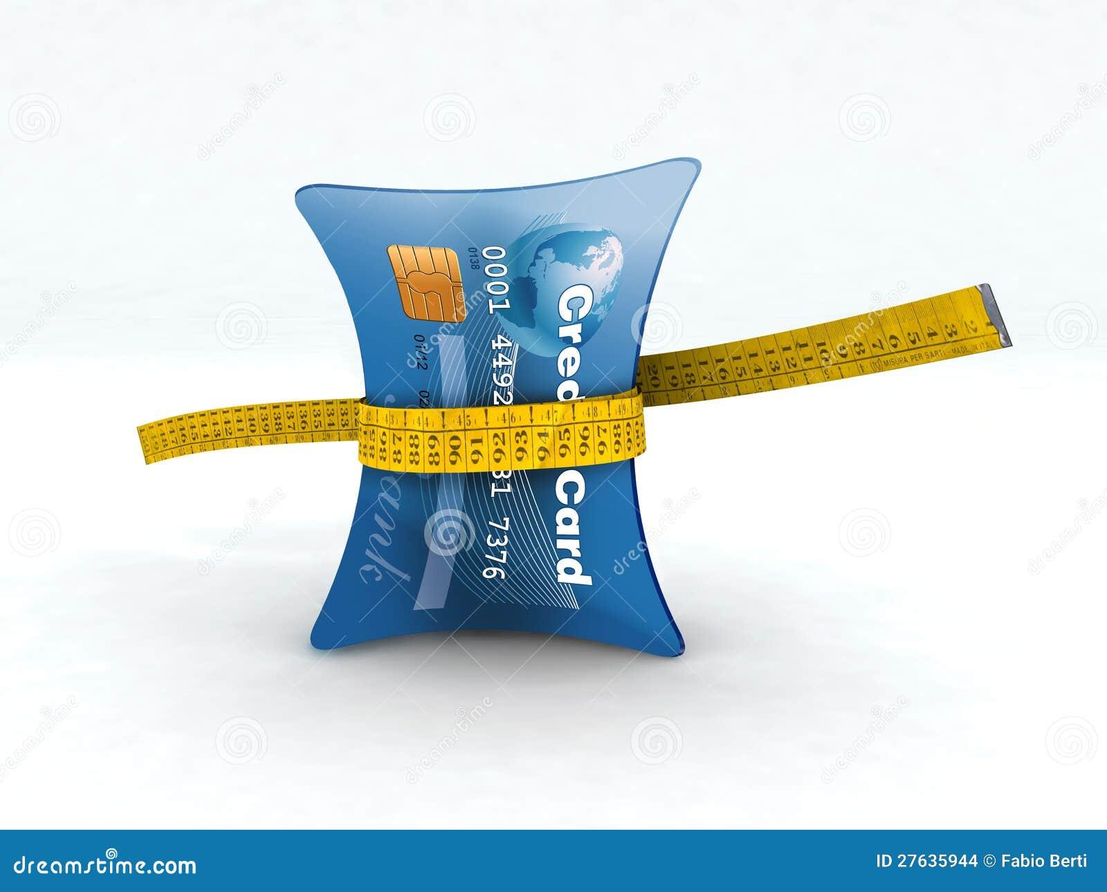 信用卡在评定的磁带