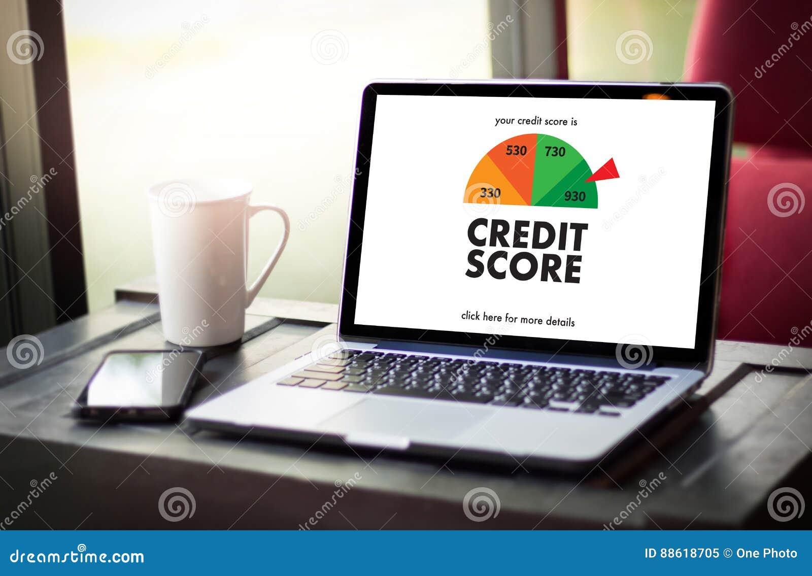 信用评分(在网上检查信用评分和Finan的商人