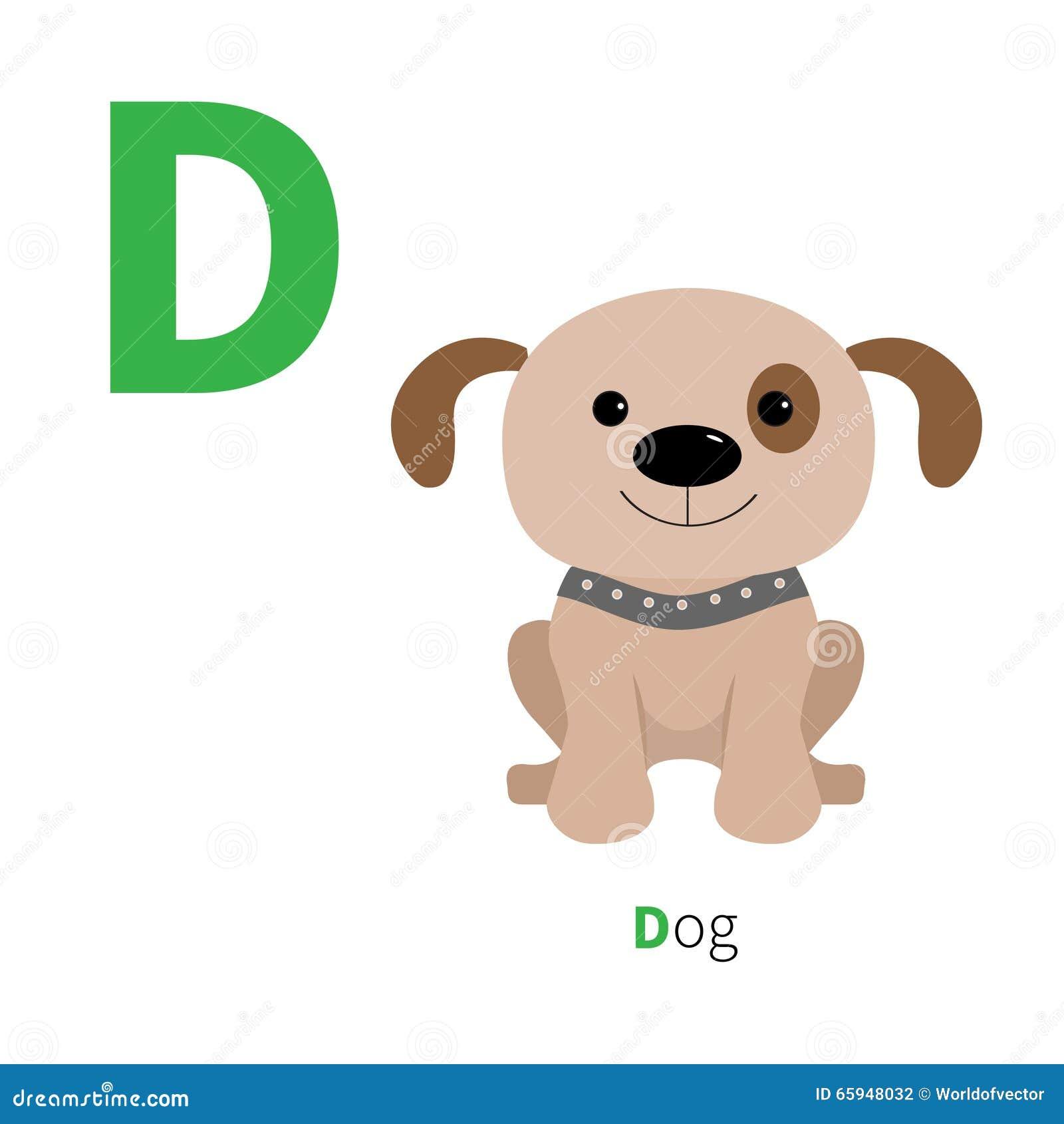 动物�y�,y�(9�d_信件d狗动物园字母表 与动物教育卡片的英国abc孩子白色背景平的设计