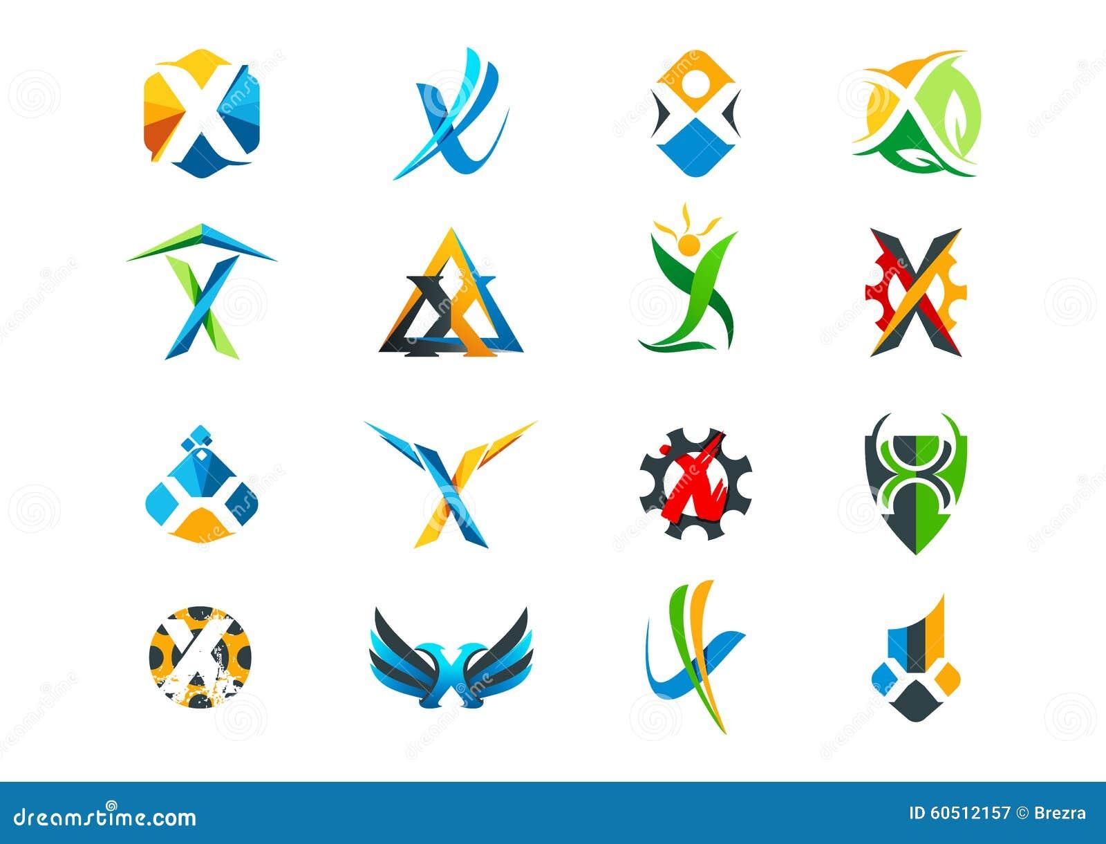 信件x概念商标设计
