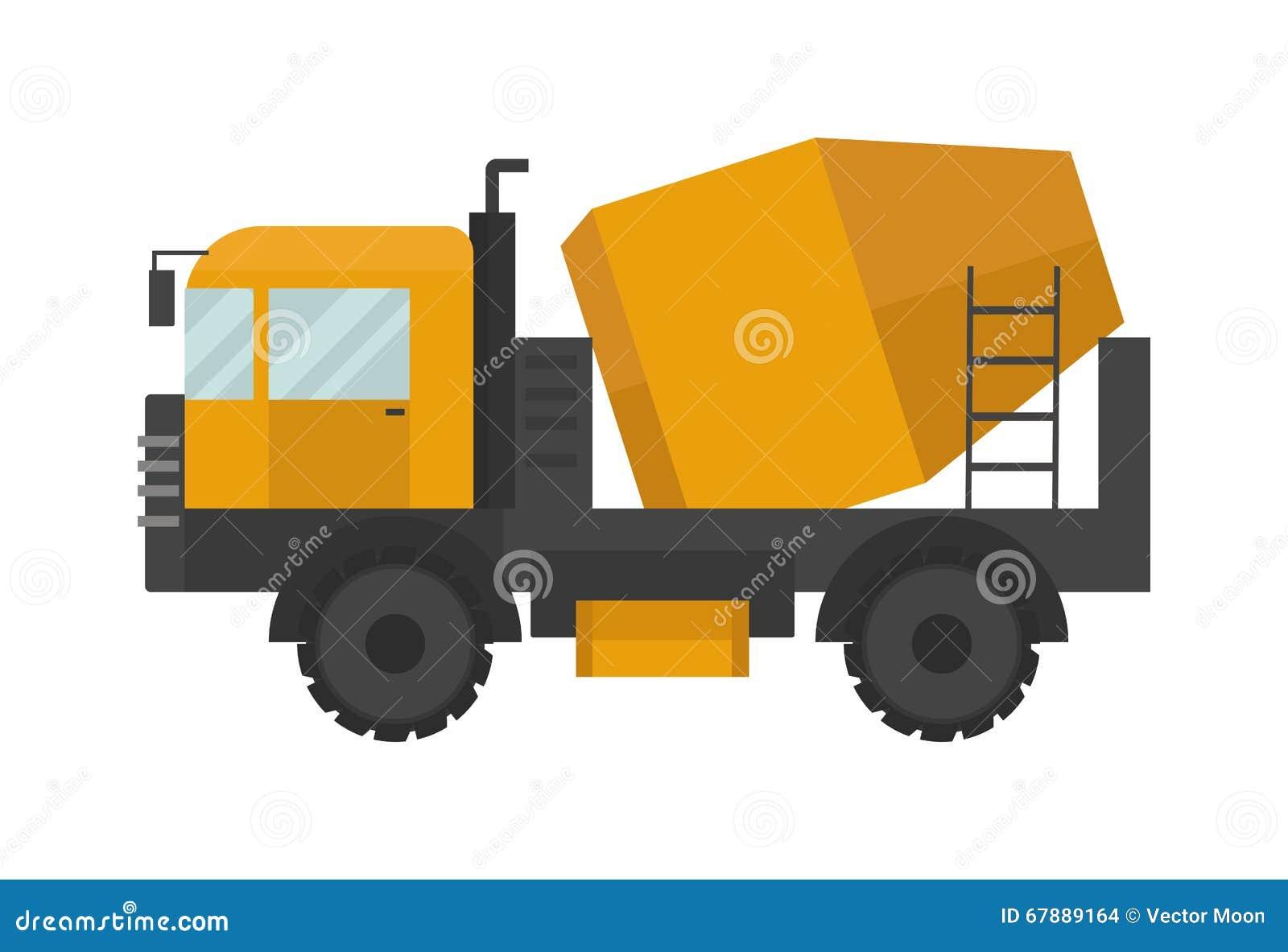 修造的建设中水泥搅拌车加工技术传染媒介例证