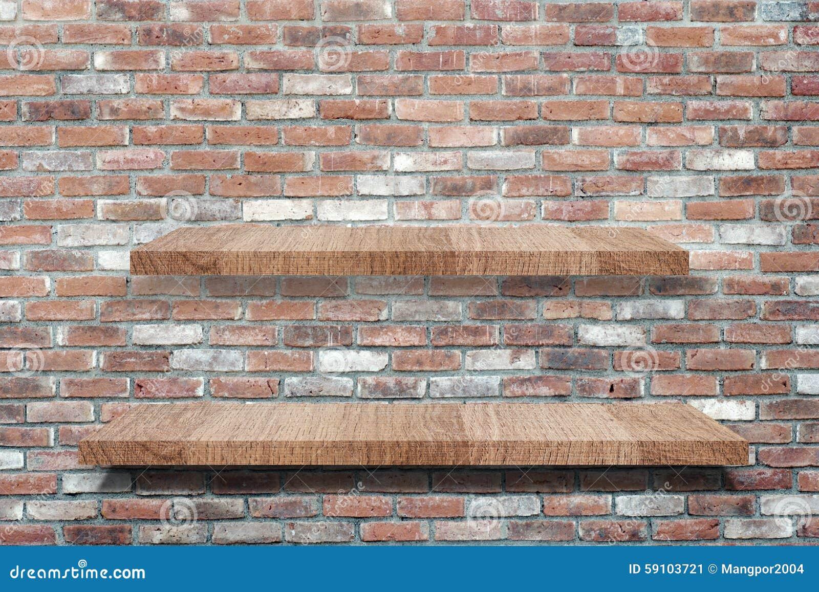 倒空在难看的东西砖墙背景的木架子