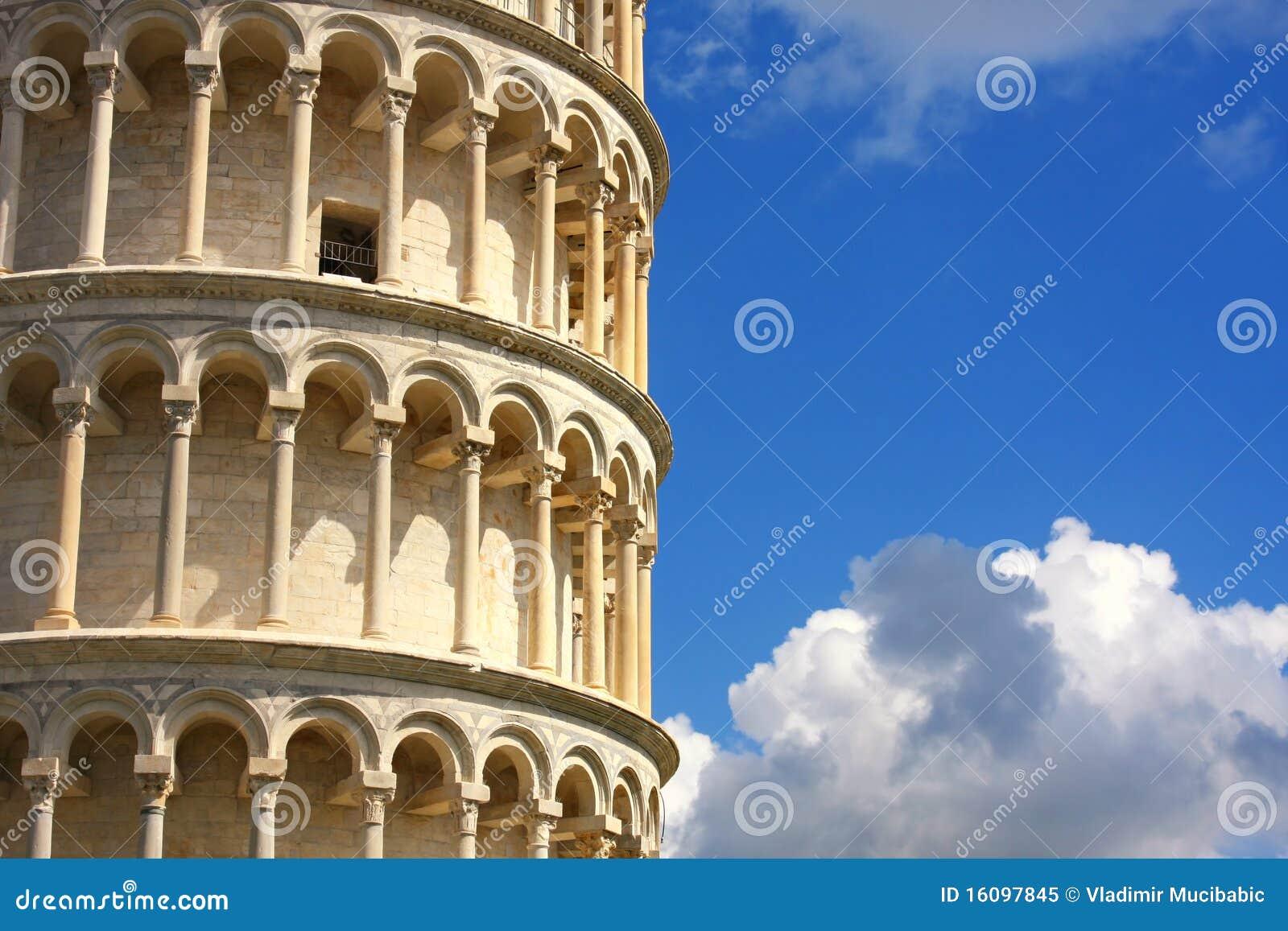 倾斜比萨塔托斯卡纳的意大利