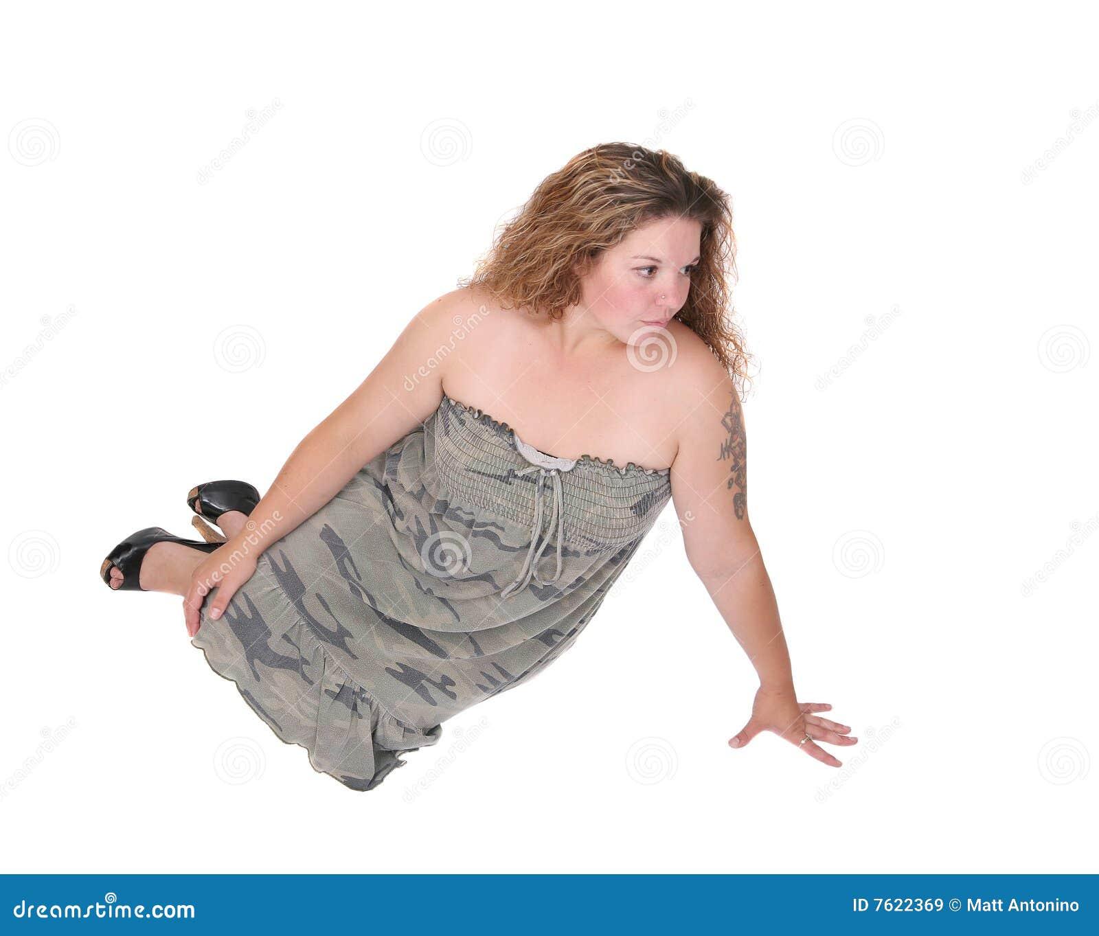 倾斜的妇女
