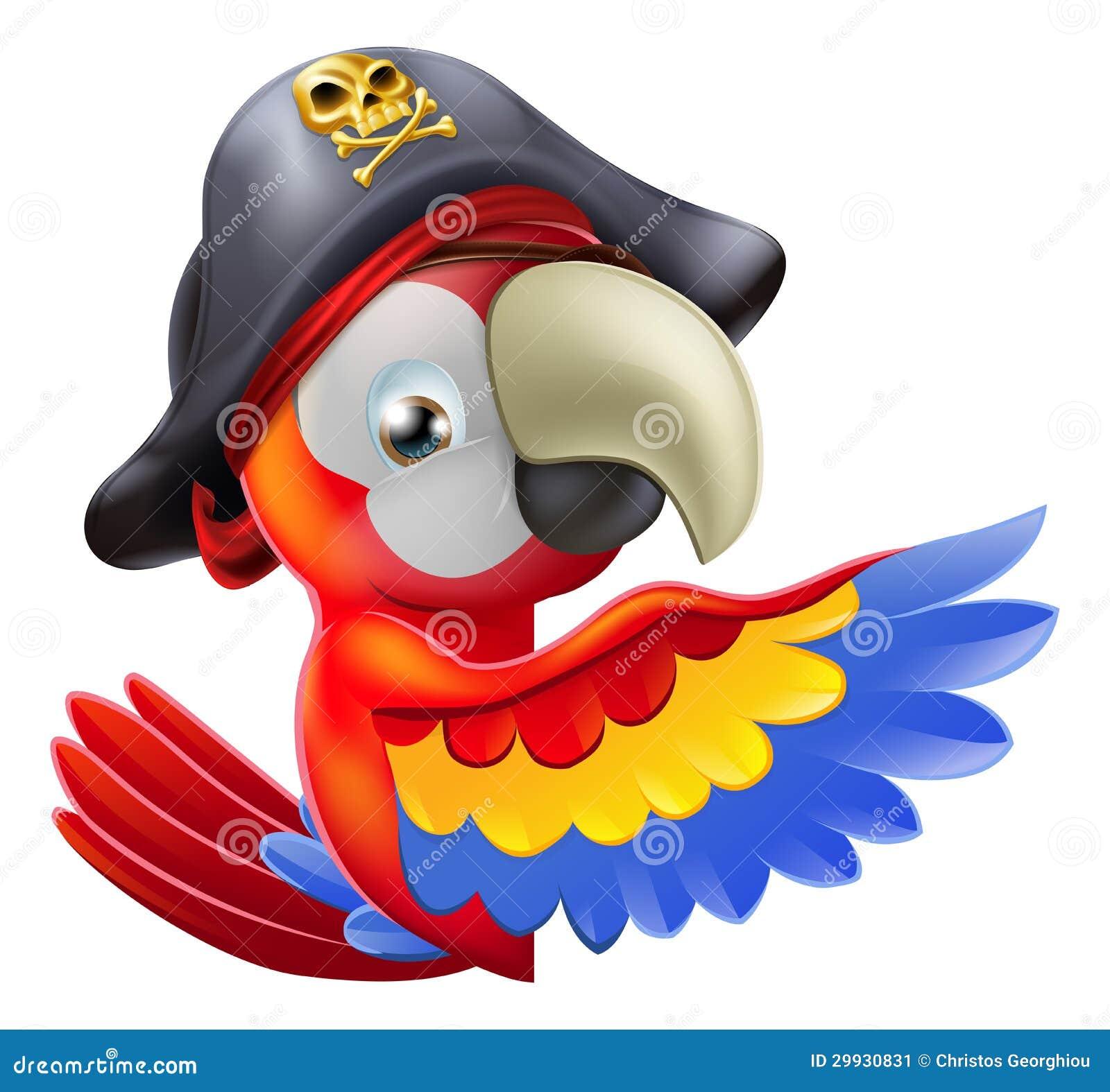 海盗和鹦鹉_鹦鹉海盗指向