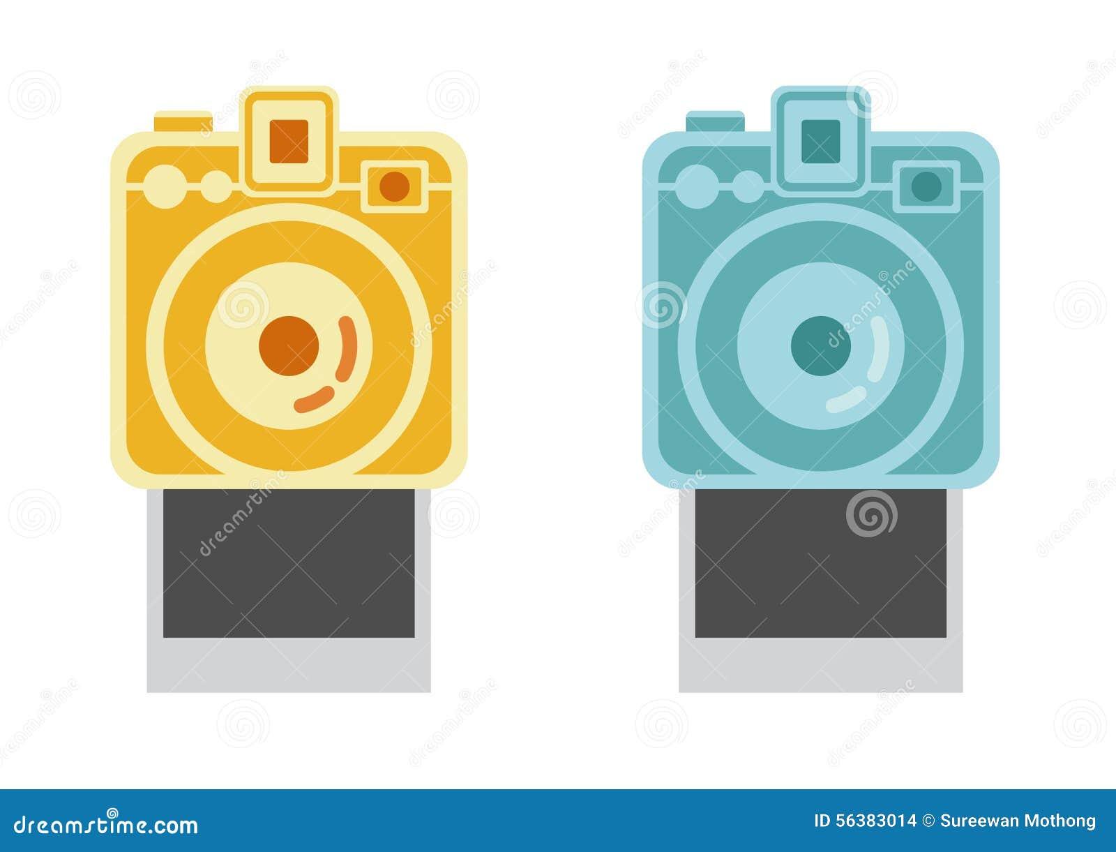 偏振光相机和框架,葡萄酒照相机传染媒介,偏正片传染媒介