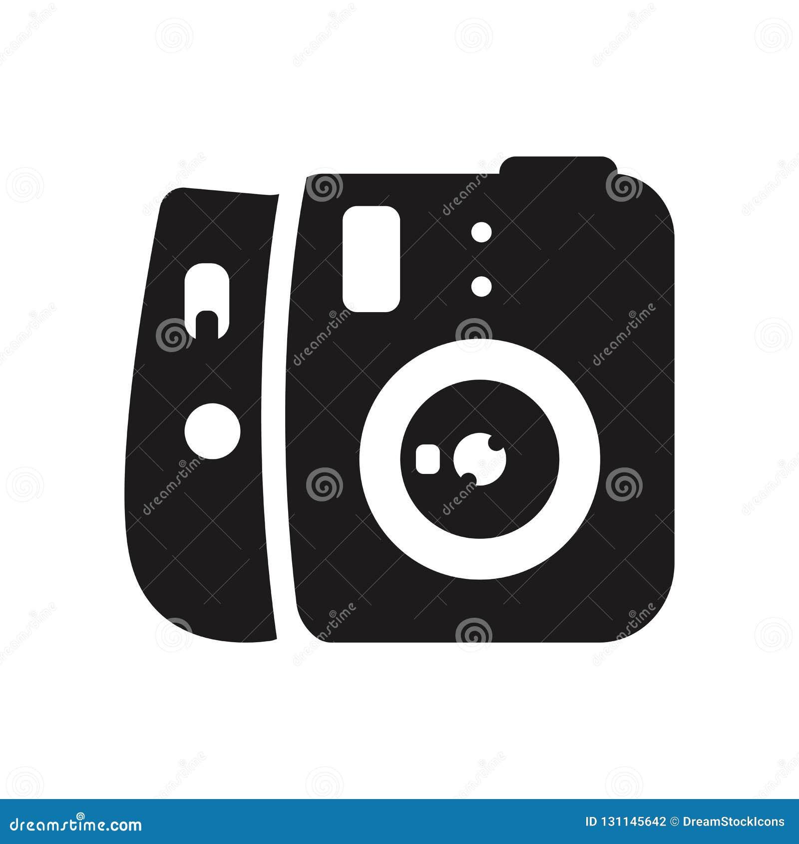 偏振光相机象 在whi的时髦偏振光相机商标概念