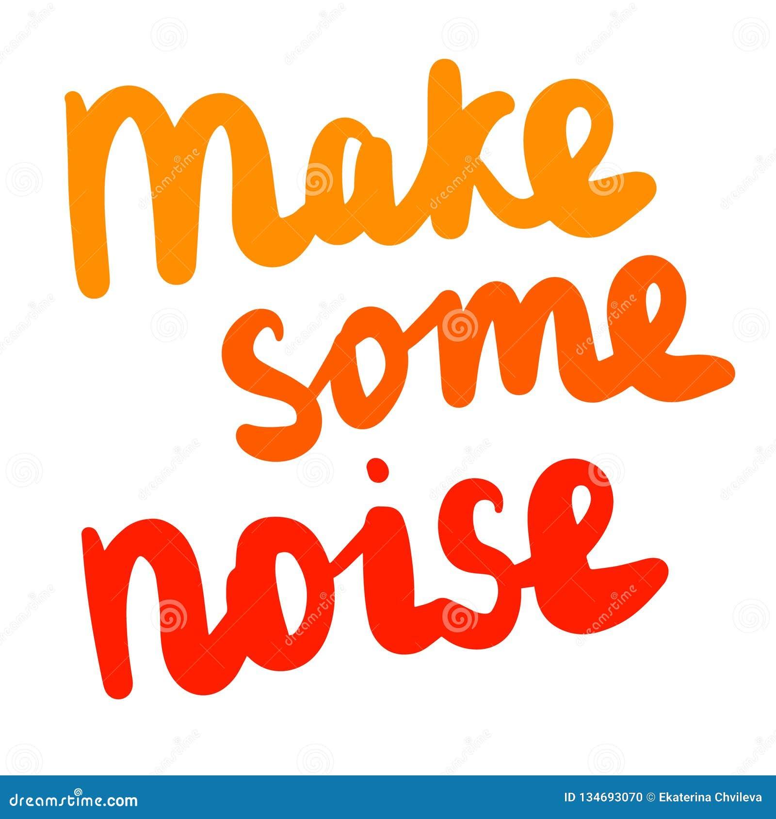 做一些噪声在橘黄色的手拉的字法