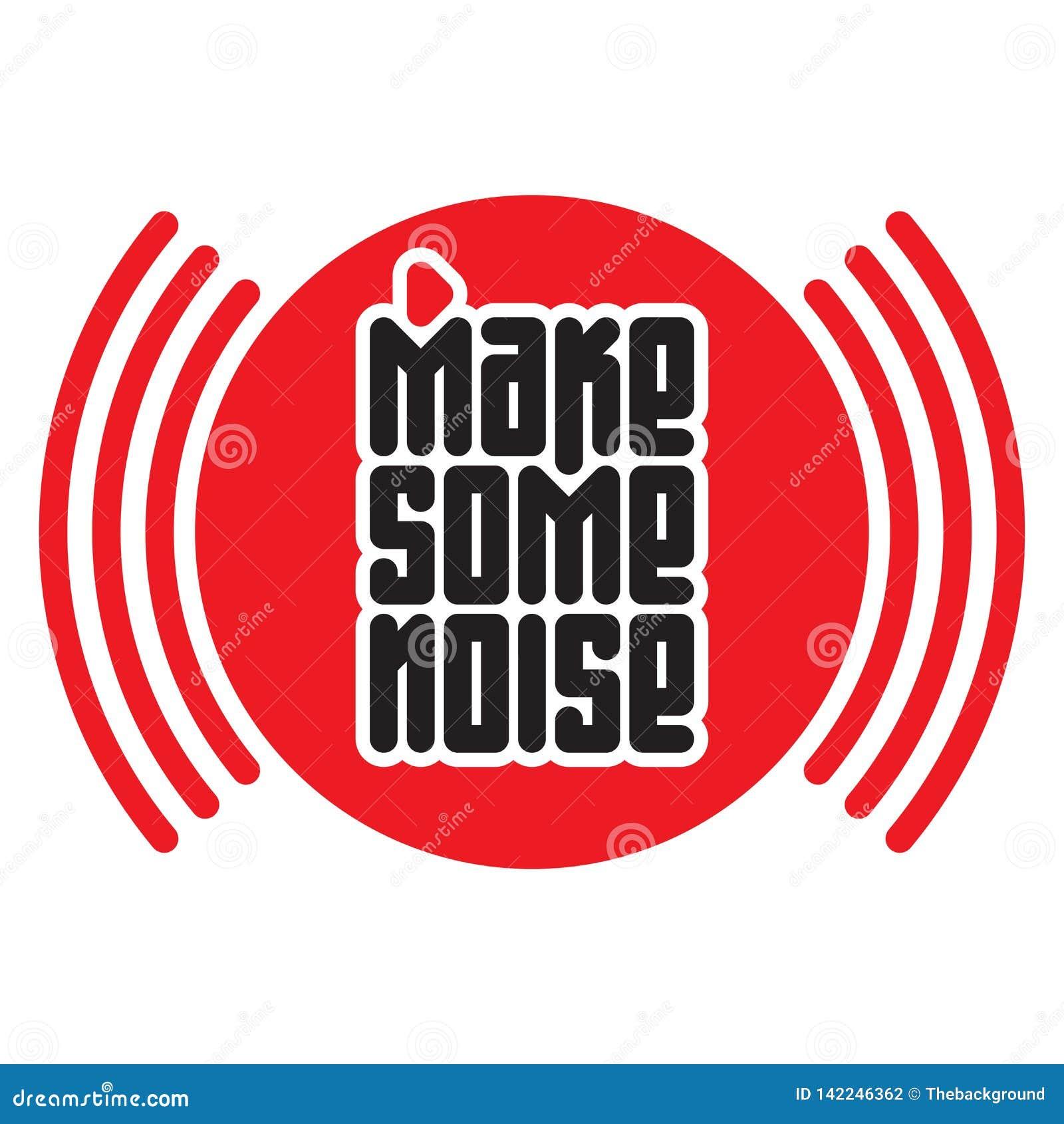 做一些噪声红色按钮 T恤杉的印刷品有音频波浪的