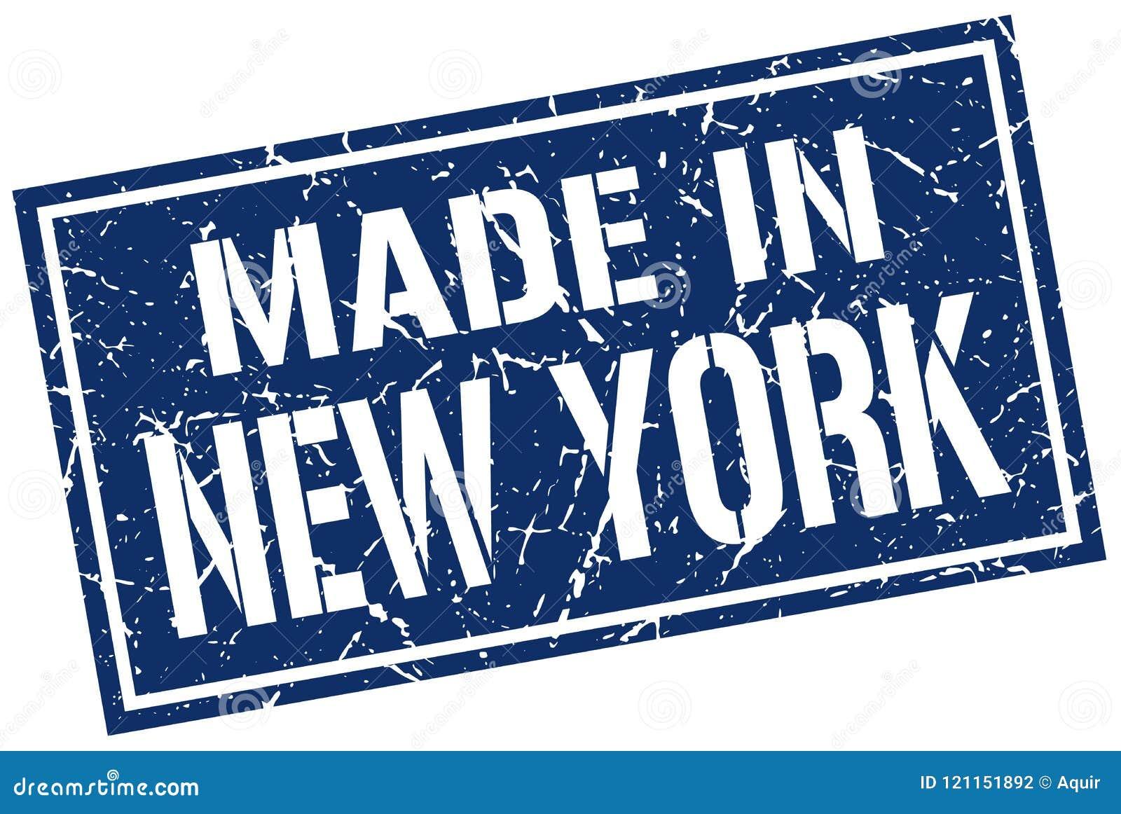 做在纽约邮票