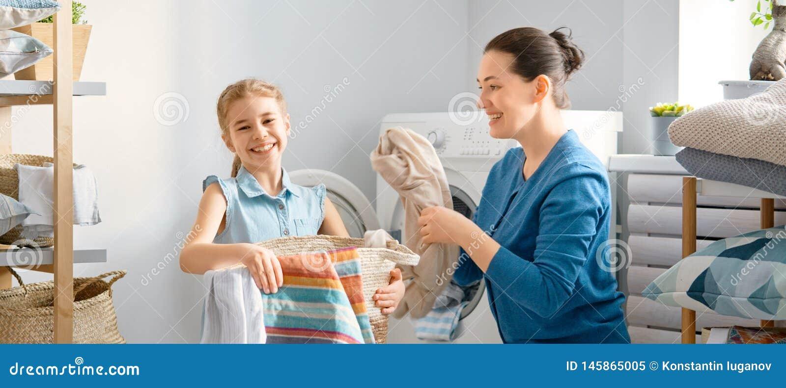 做洗衣店的家庭