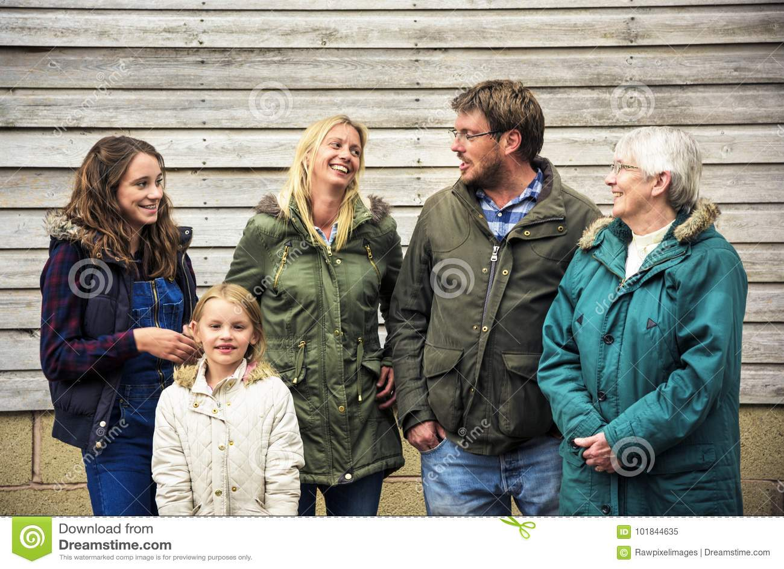 做父母统一性放松概念的家庭世代