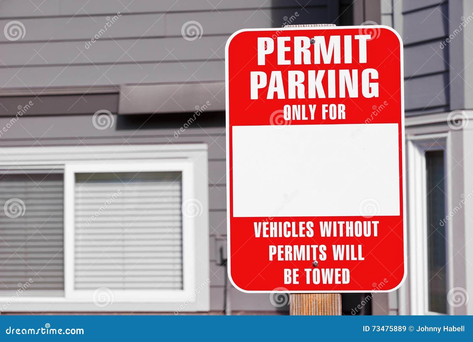 停放的许可证标志