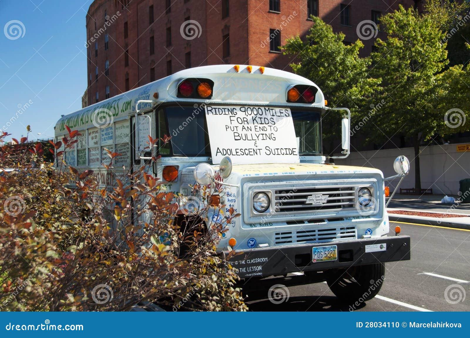 停止胁迫公共汽车