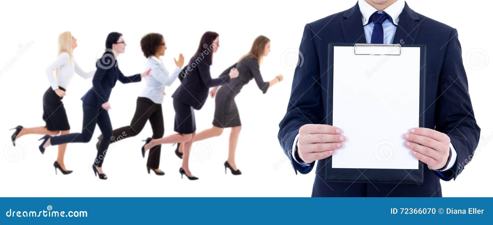 健康资源概念-连续的女商人侧视图