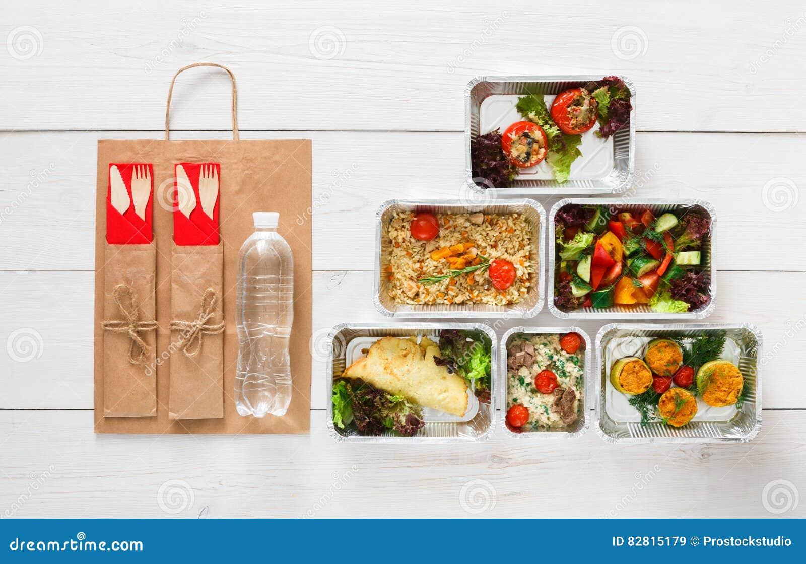 健康食物交付,每日饭食顶视图,拷贝空间