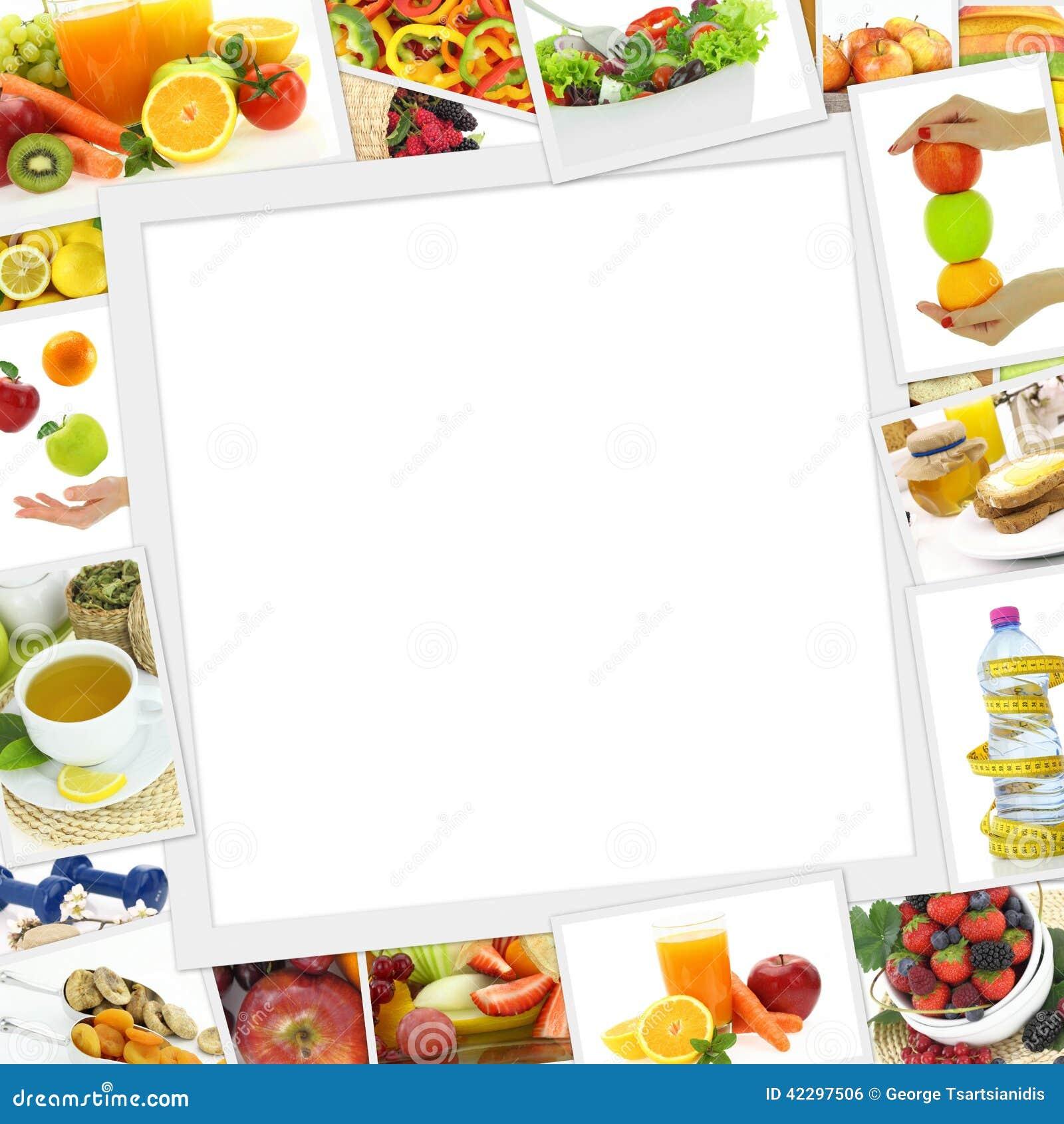 健康食物照片的汇集与拷贝空间的.图片