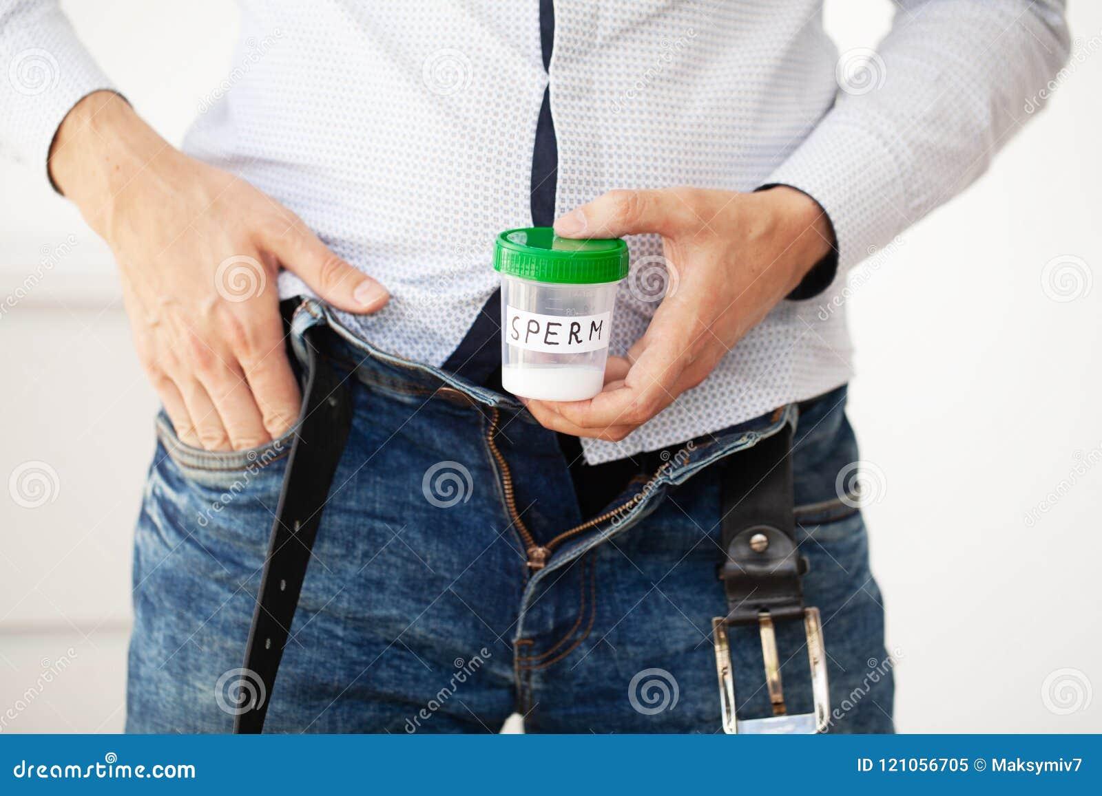 健康 样品精液 捐赠精子银行精液的关闭概念 我