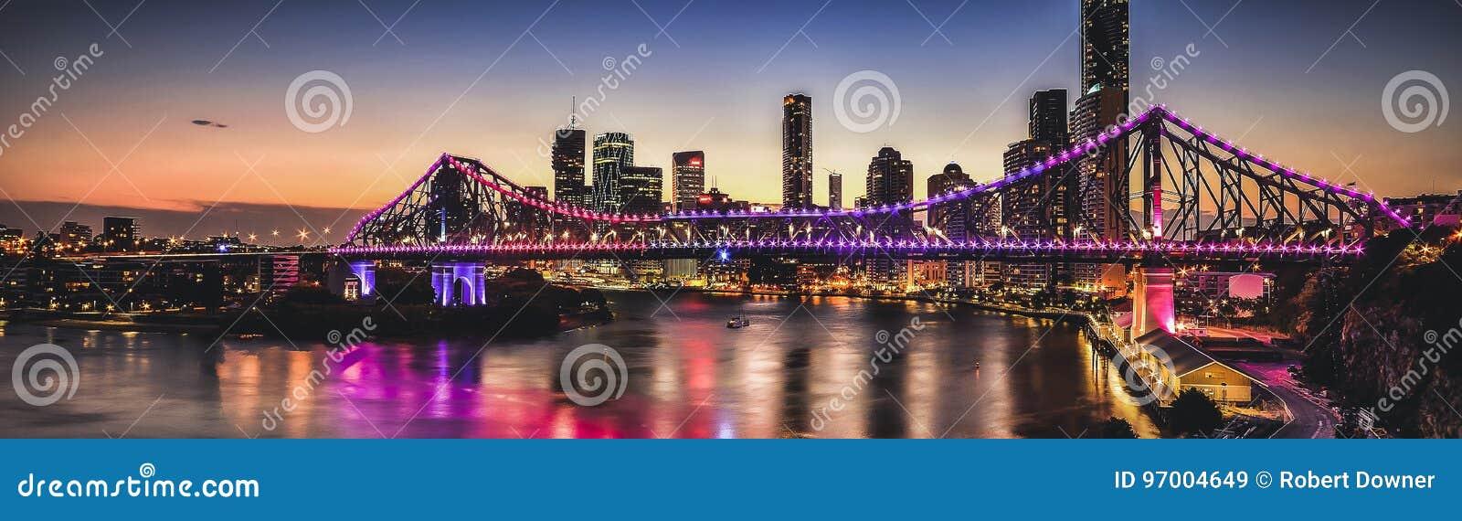 偶象故事桥梁在布里斯班,昆士兰,澳大利亚
