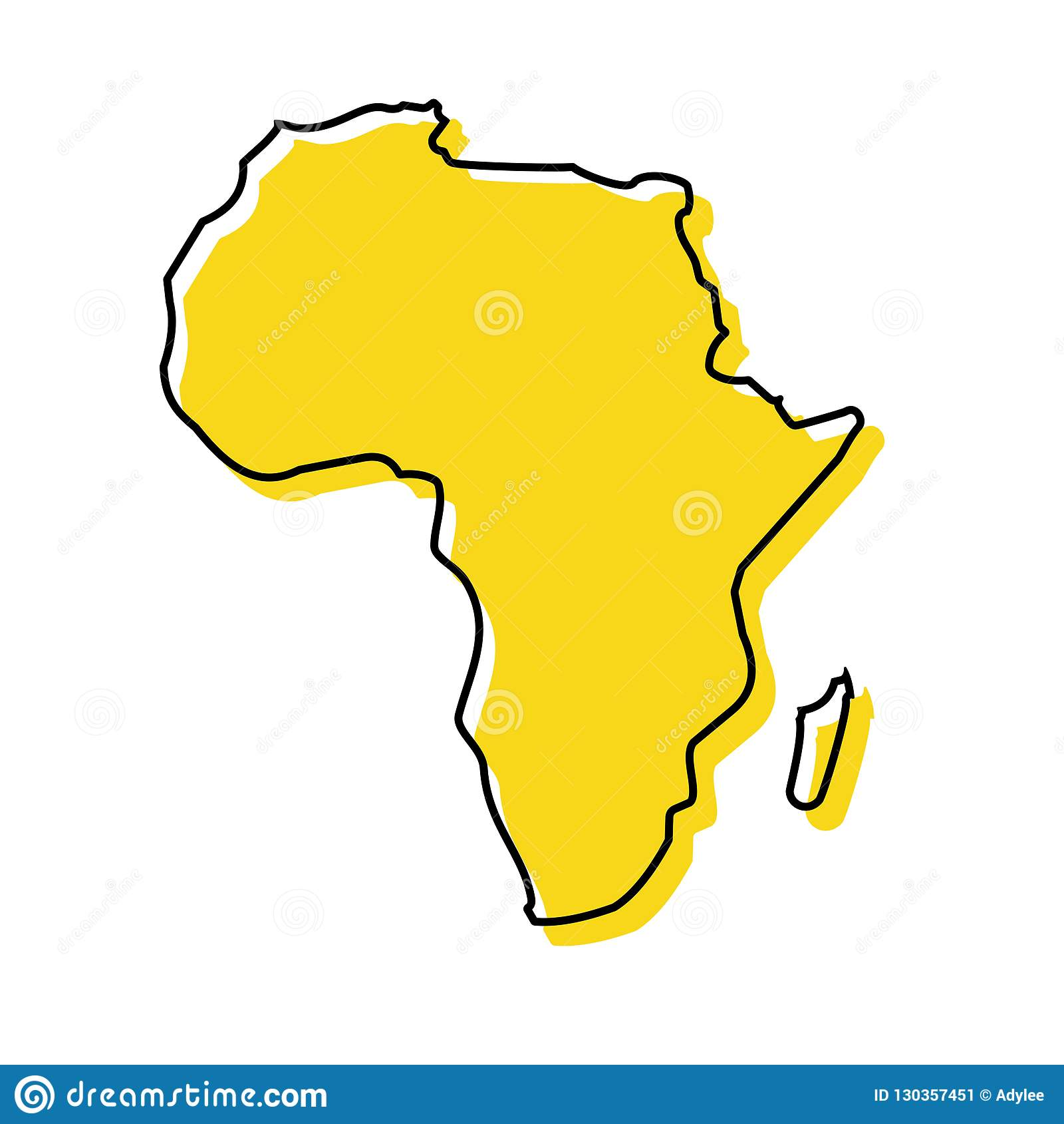 储蓄传染媒介非洲地图象传染媒介例证1