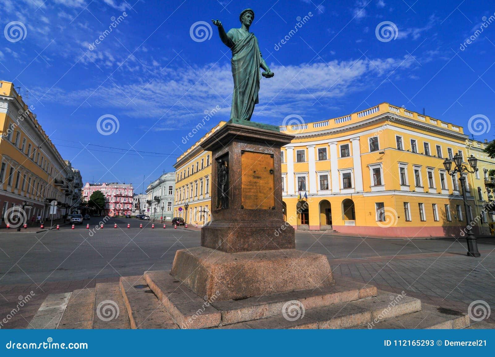 傲德萨,乌克兰公爵Richelieu -雕象