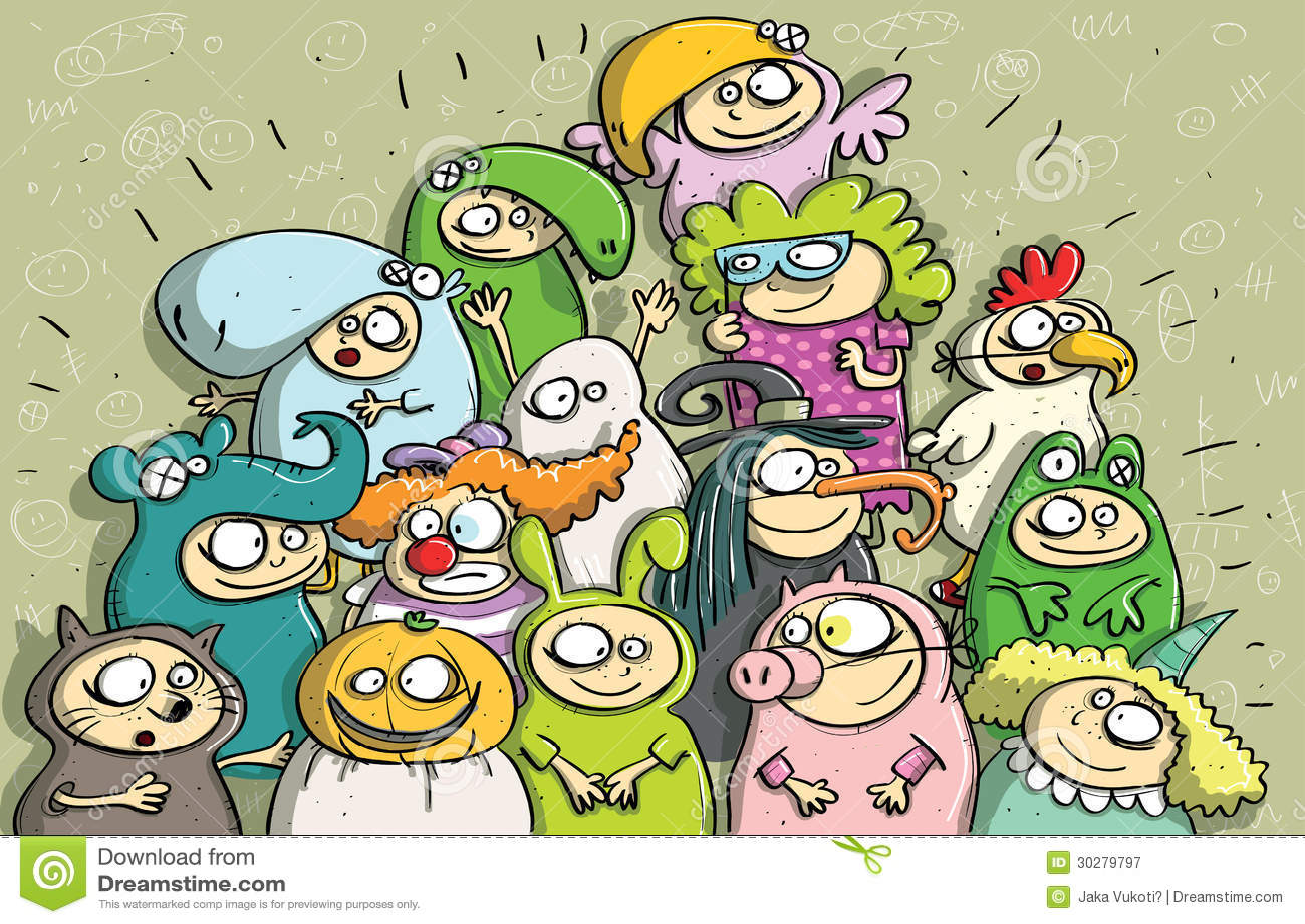 儿童狂欢节面具