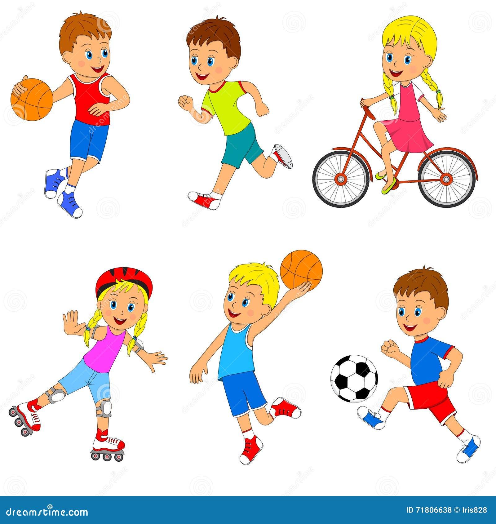 儿童的体育活动集合